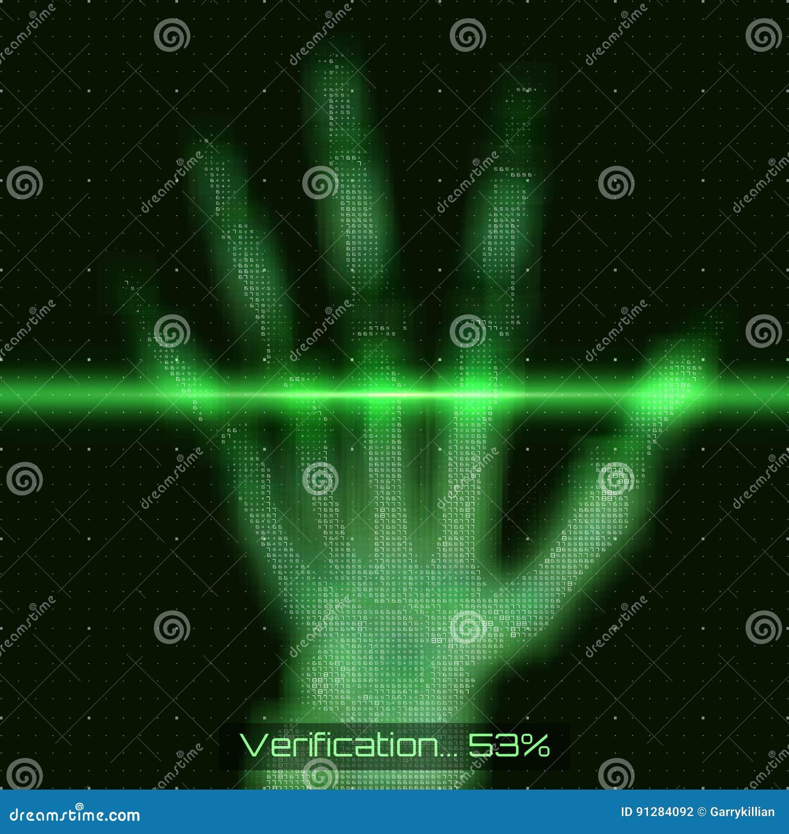 Illustration för analys för tomography för hand för vektorgräsplanabstrakt begrepp Gömma i handflatan röntgenstrålebildläsningen