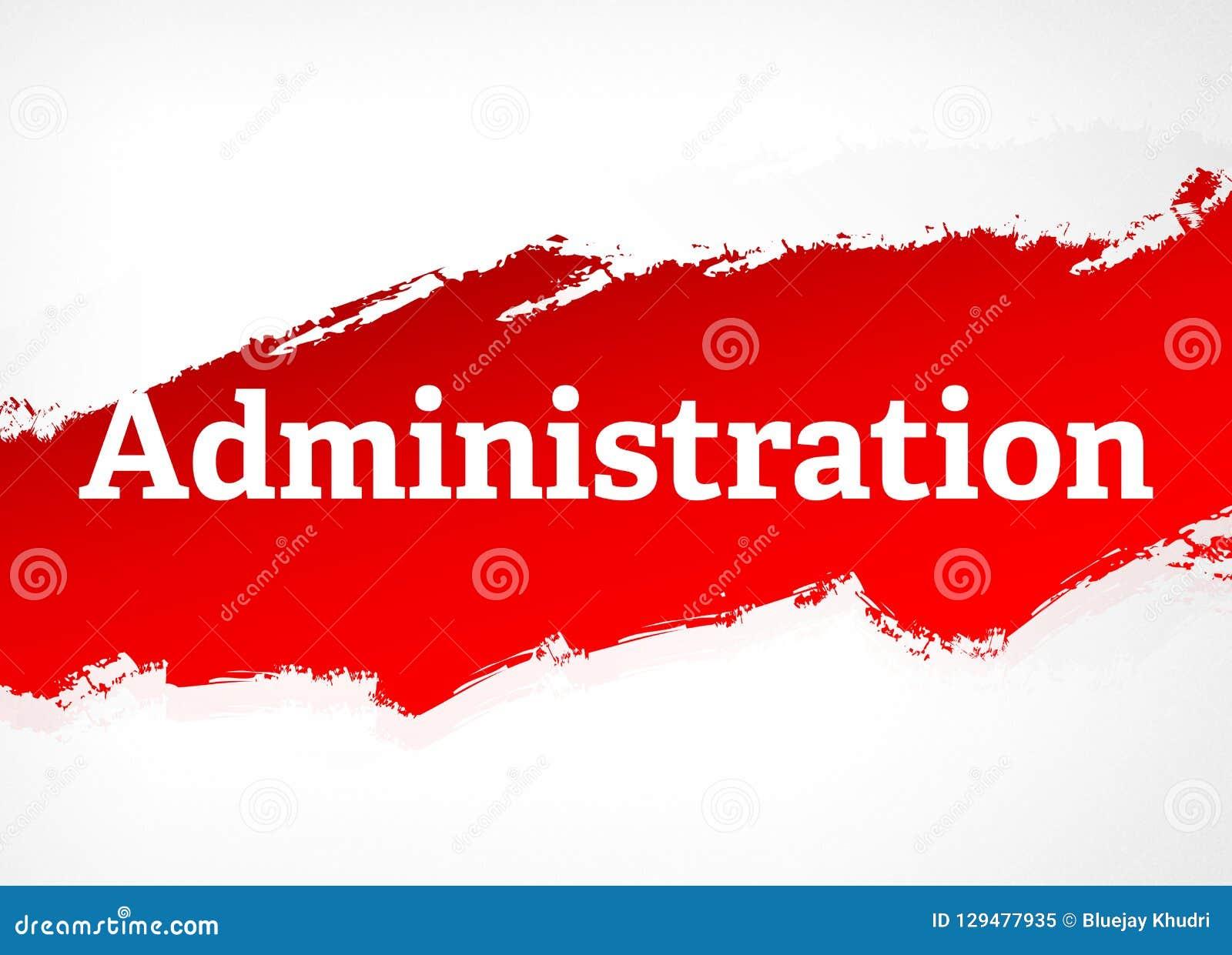 Illustration för bakgrund för röd borste för administration abstrakt
