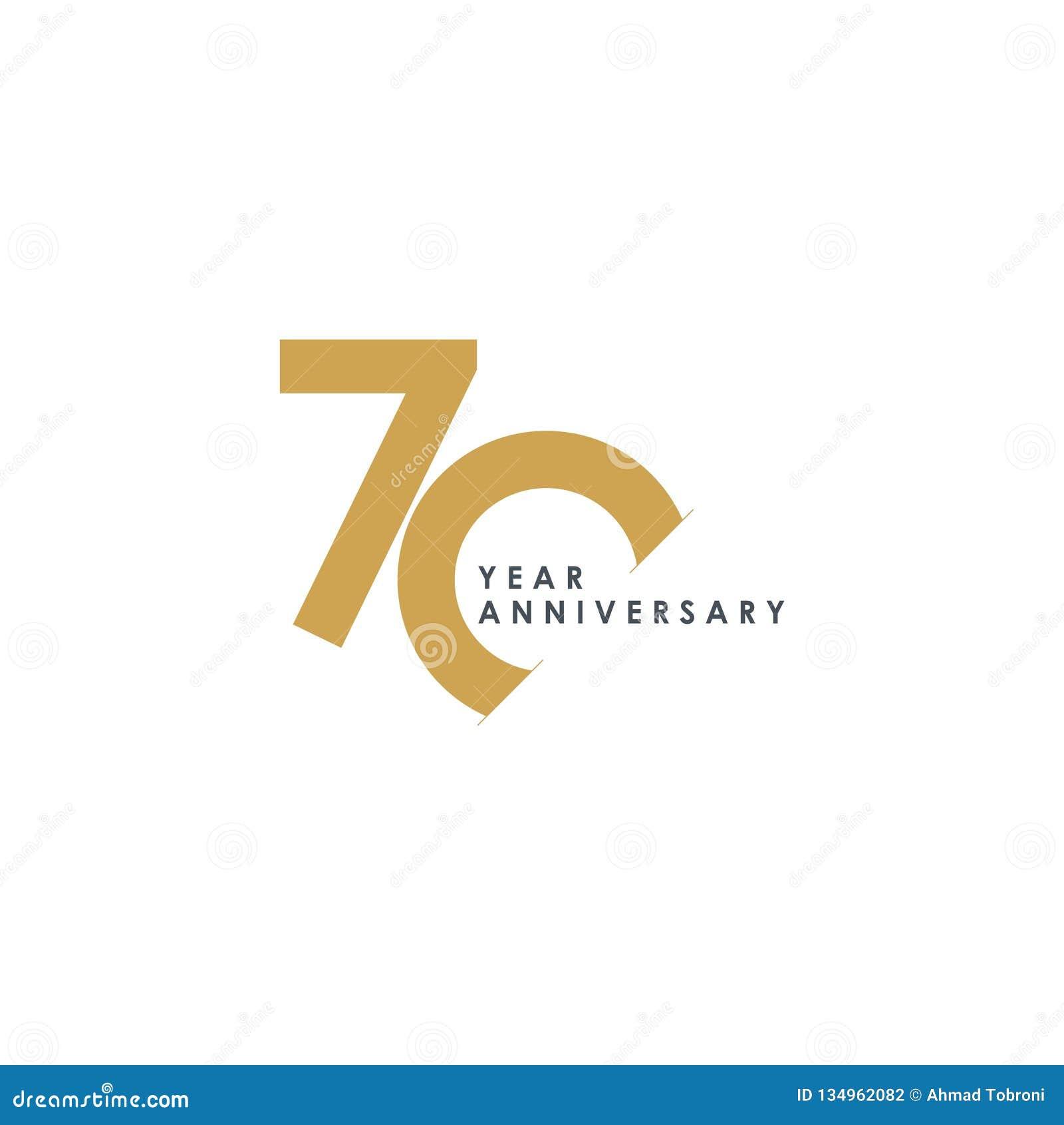 Illustration för design för 70 år årsdagvektor