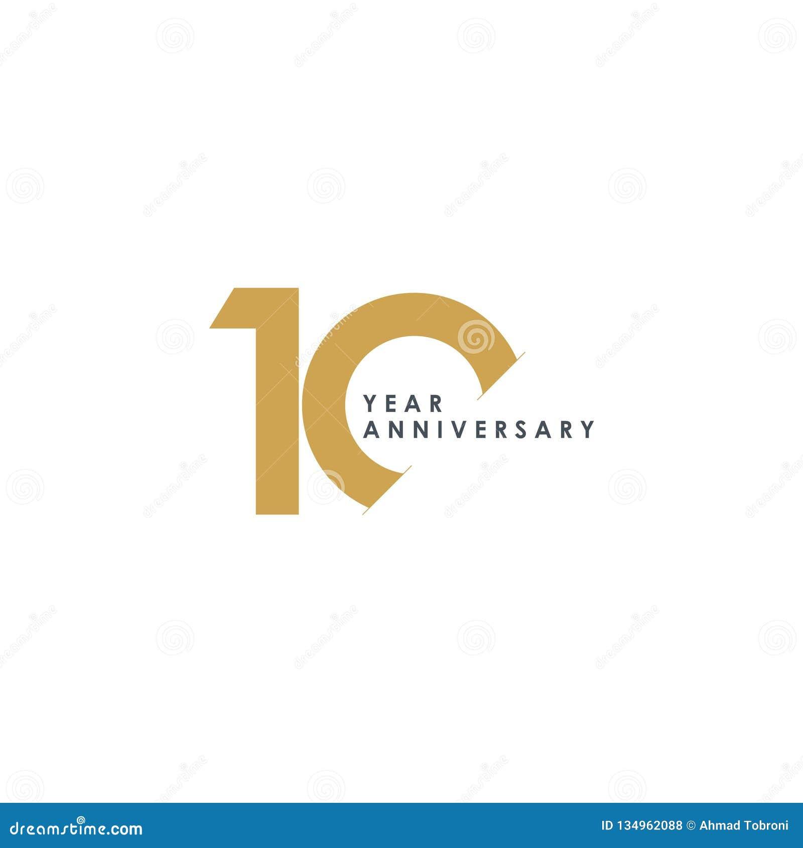 Illustration för design för 10 år årsdagvektor