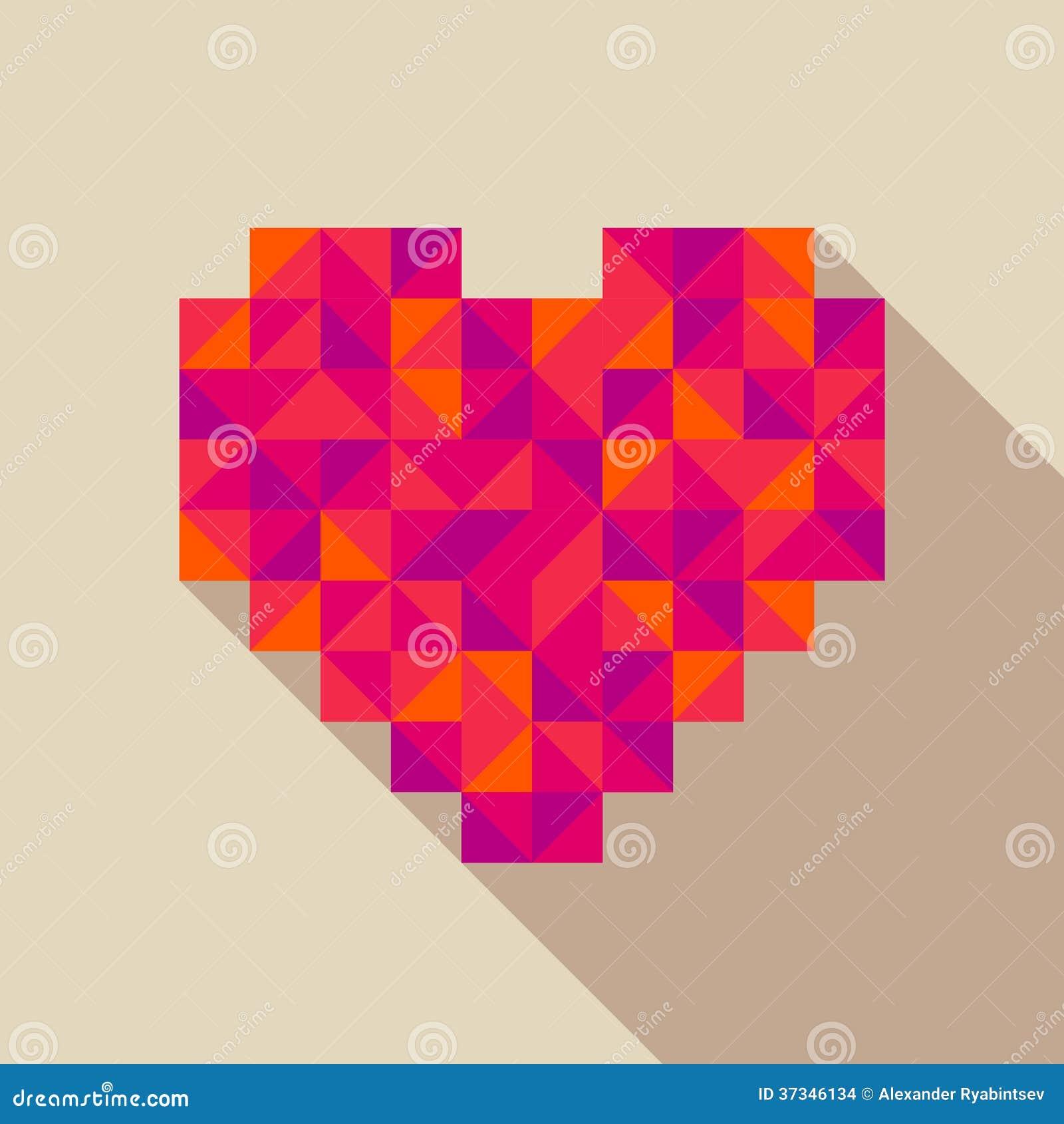 Illustration för hjärtalägenhetstil