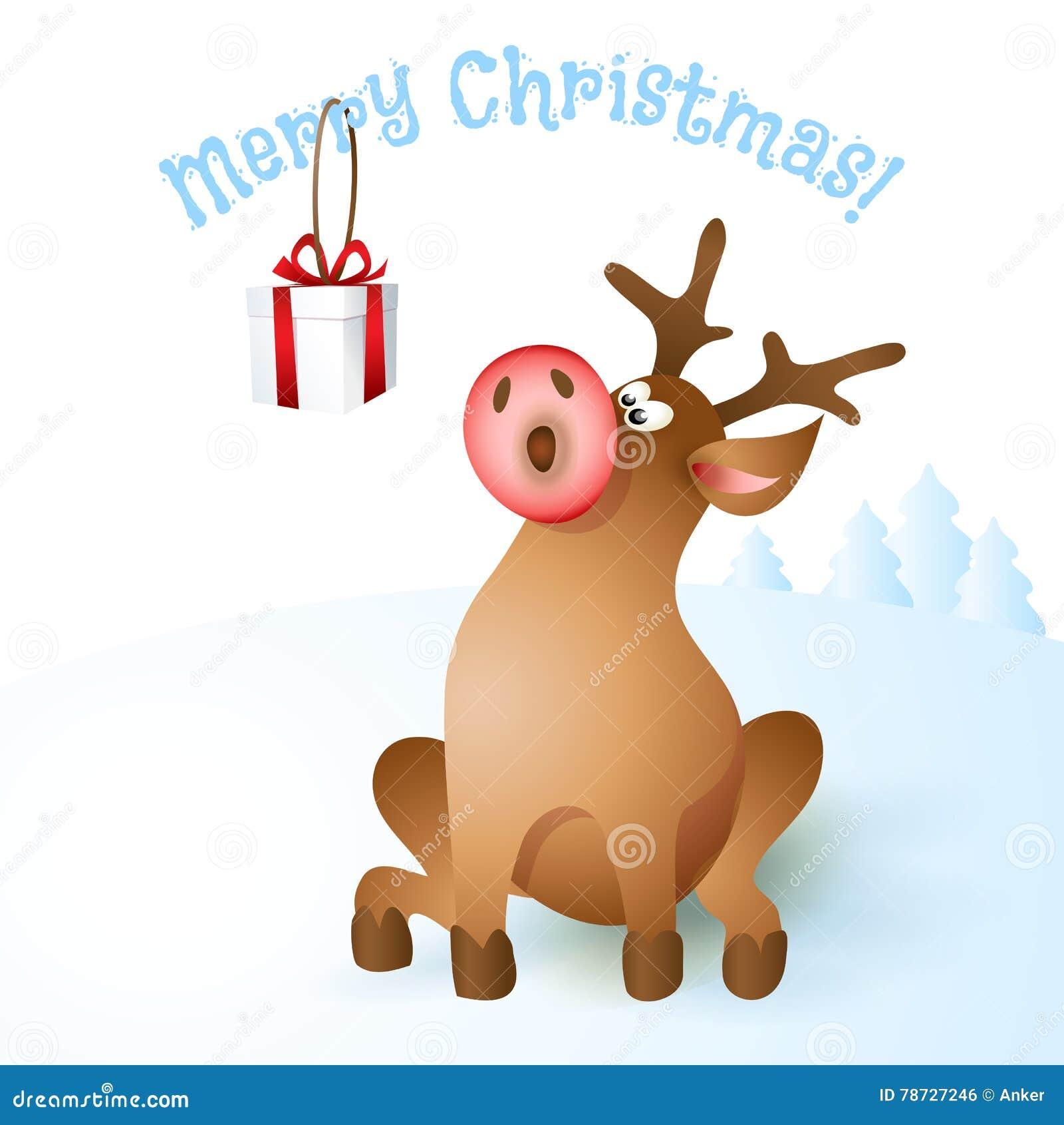 Illustration för julrenvektor
