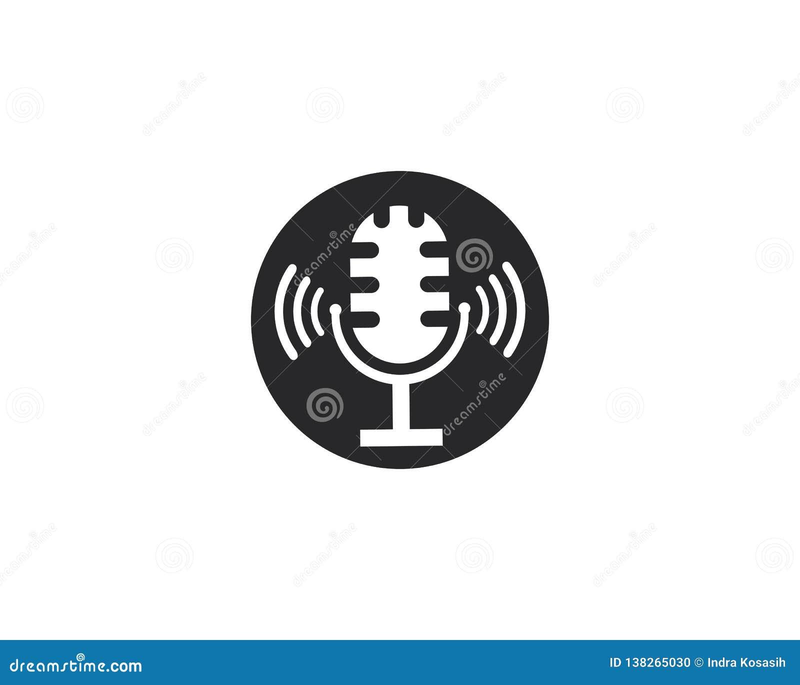 Illustration för mikrofonvektorsymbol