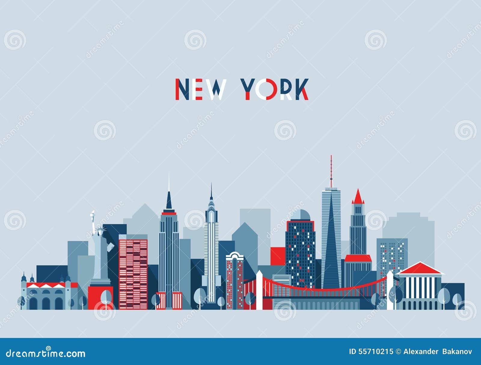 Illustration för New York City arkitekturvektor