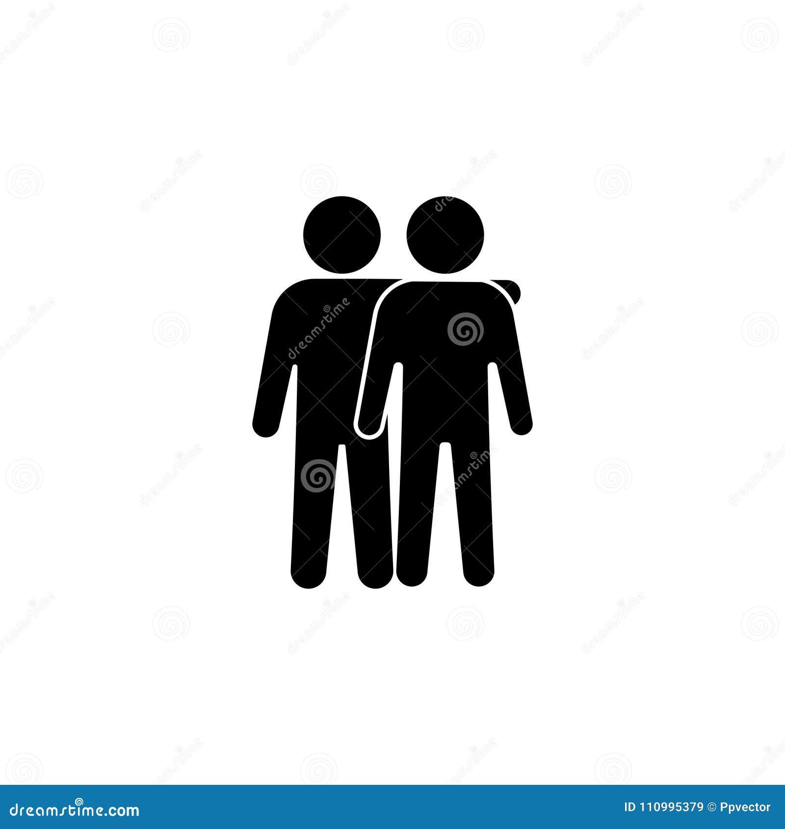 Illustration för vänsymbolsvektor Kamratskaptecken `-Bästa vän`,