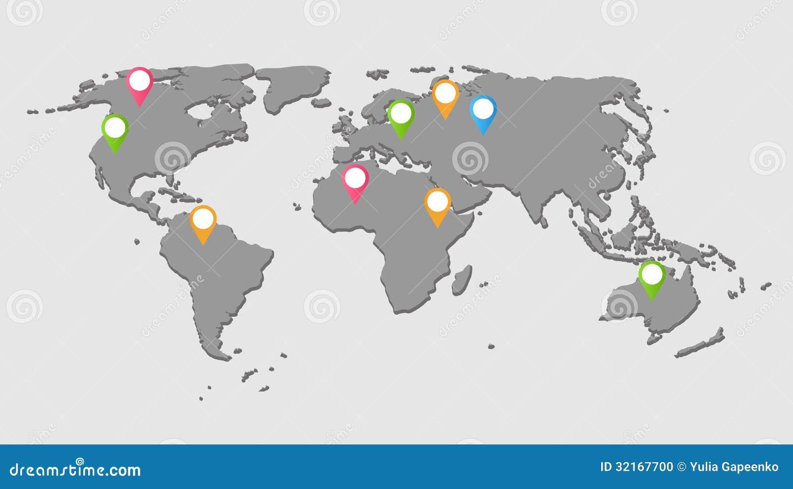 Illustration för världskartabakgrundsvektor