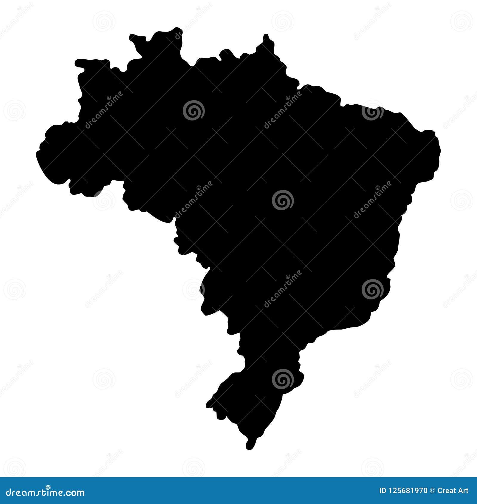 Illustration för vektor för Brasilien översiktskontur