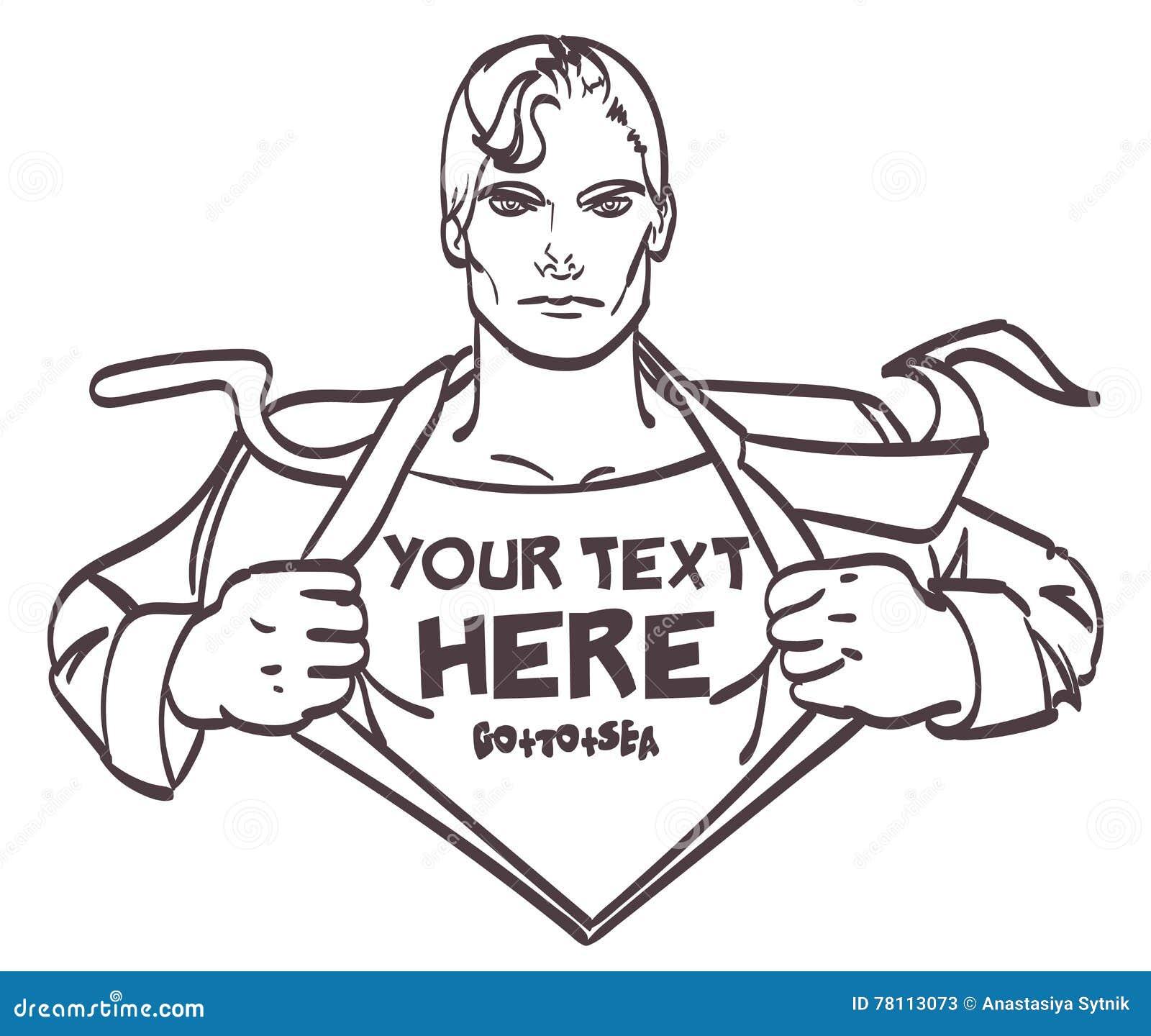 Illustration för vektor för konst för pop för affärsman för trevlig teckning för toppen hjälte manlig retro med stället för häfte