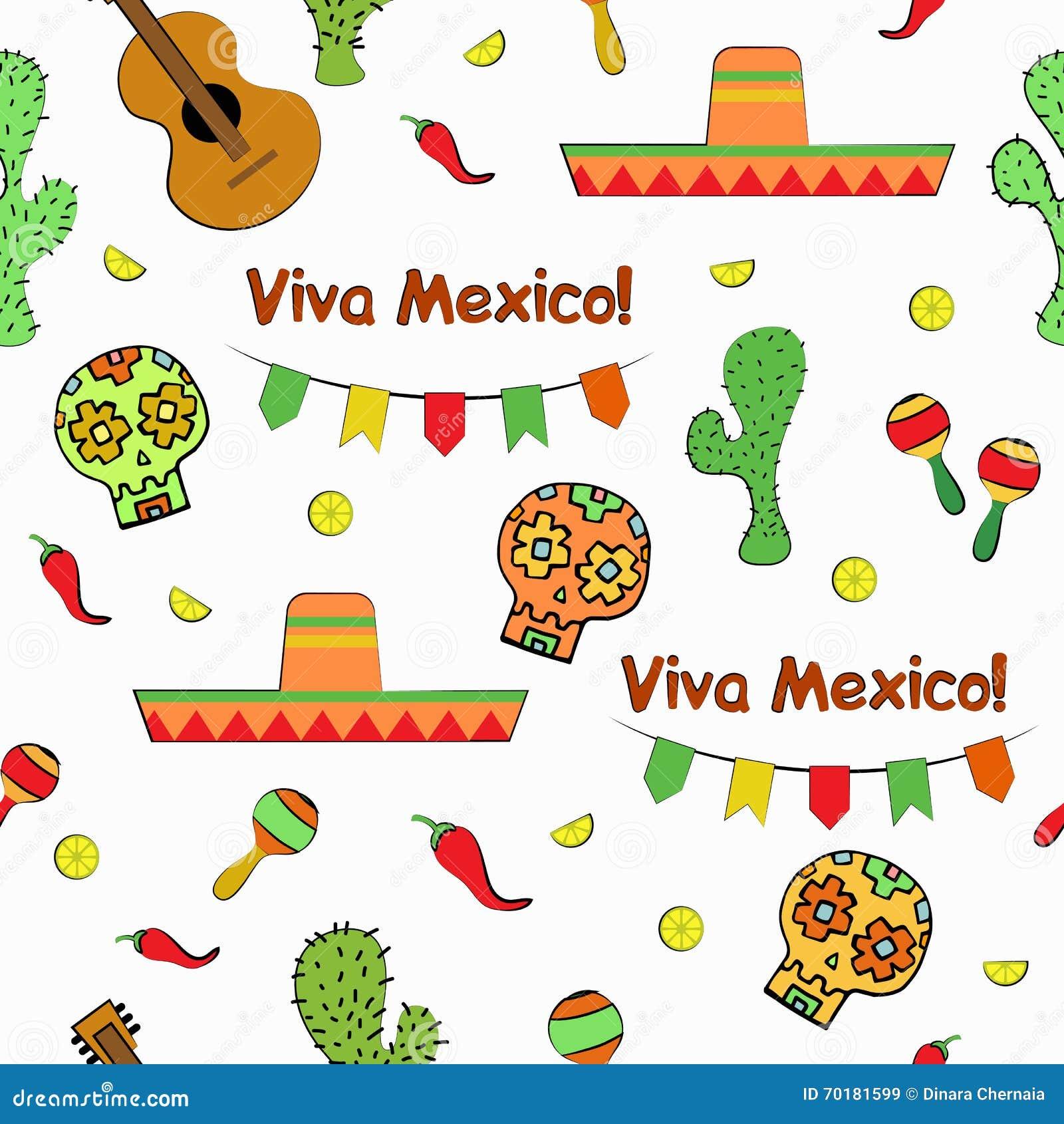 Illustration för vektor för modell för Cinco de Mayo Mexican ferie sömlös