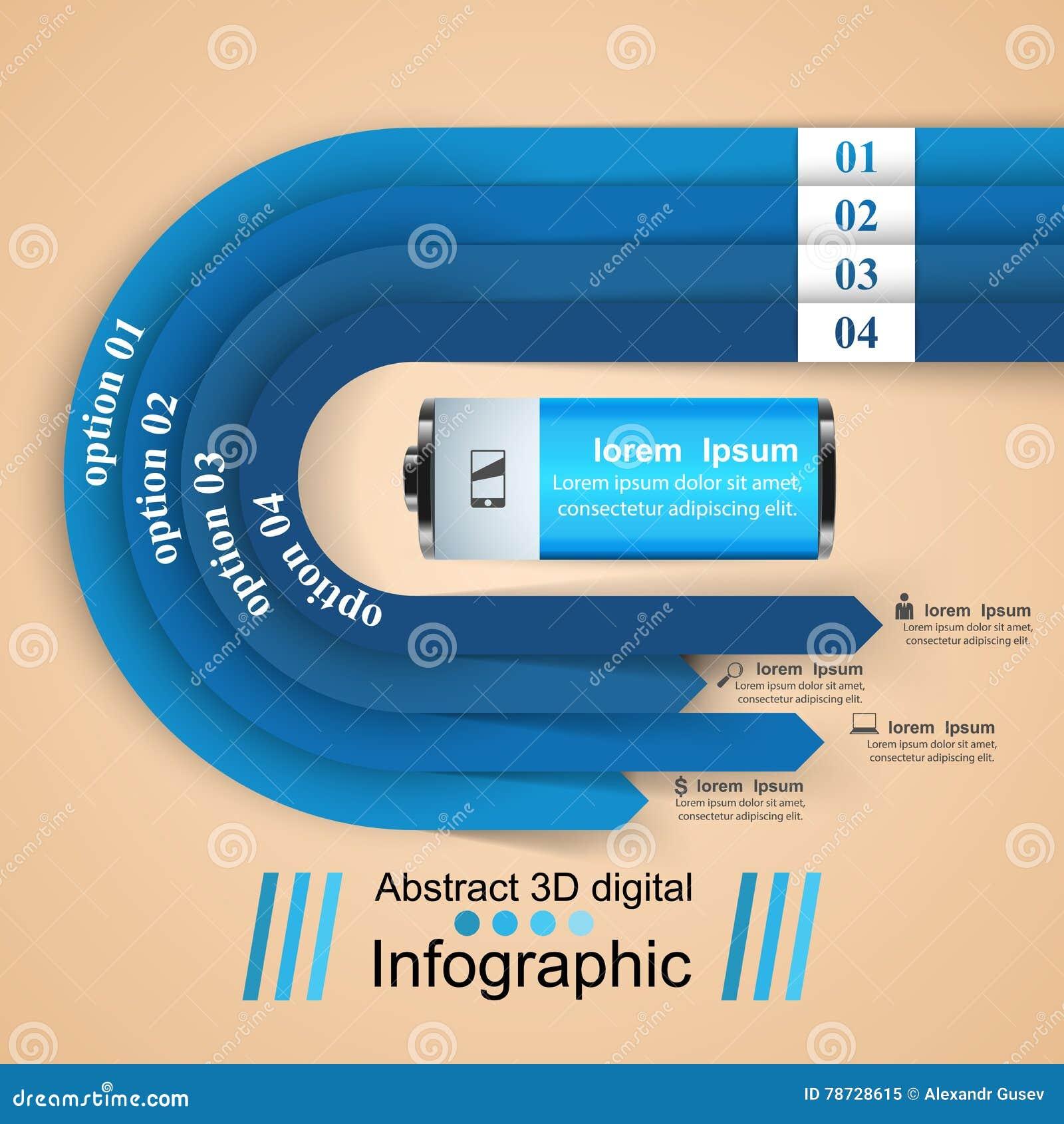 Illustration för vektor för stil för affärsInfographics origami _