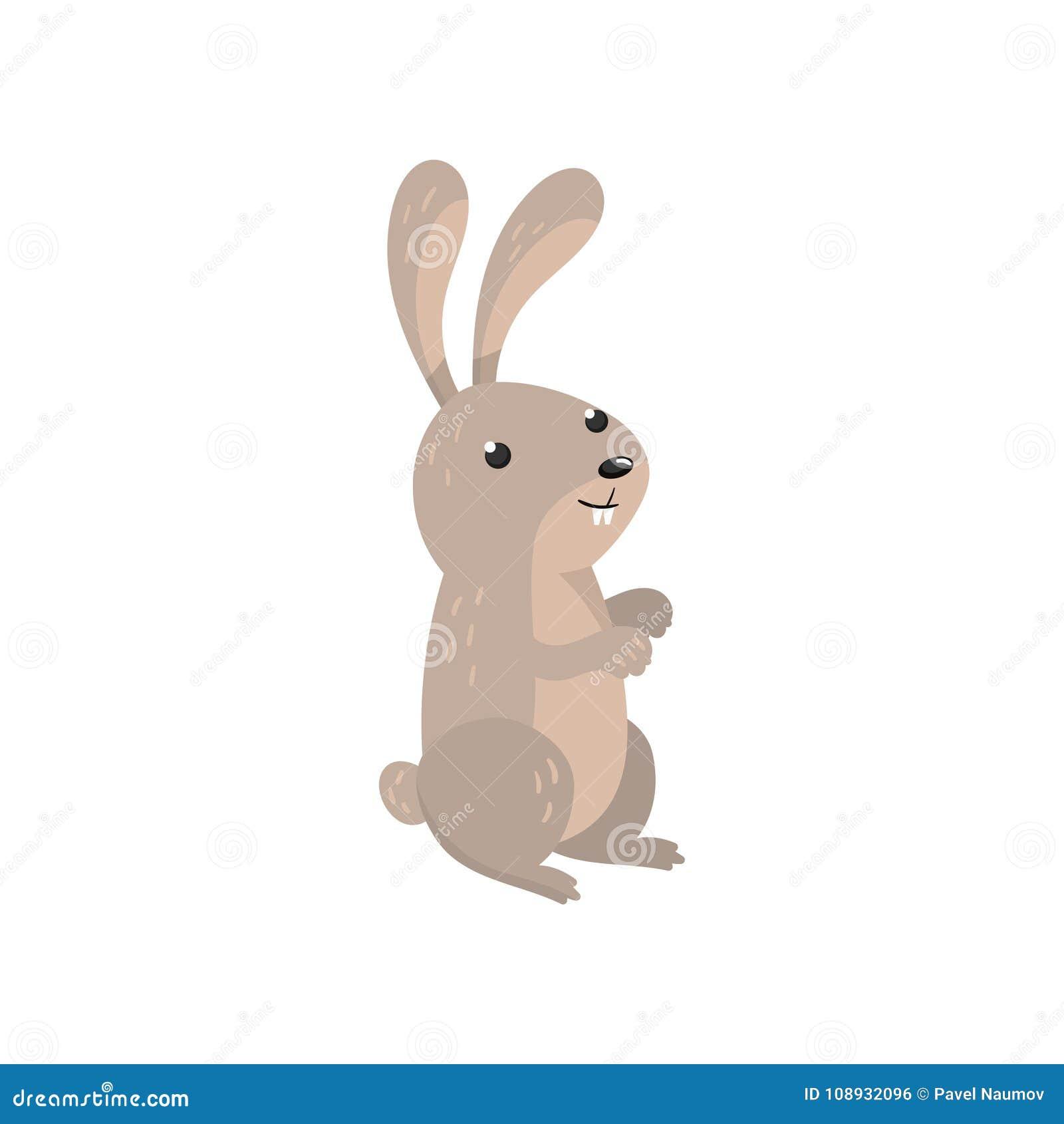Illustration för vektor för gullig hareskogsmarktecknad film djur