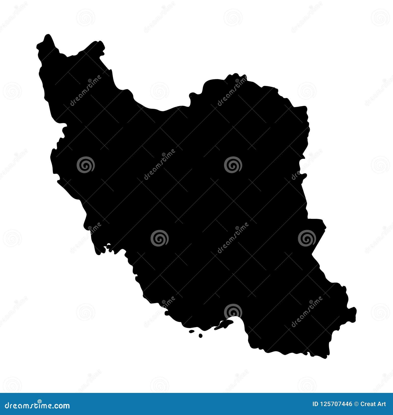 Illustration för vektor för Iran översiktskontur