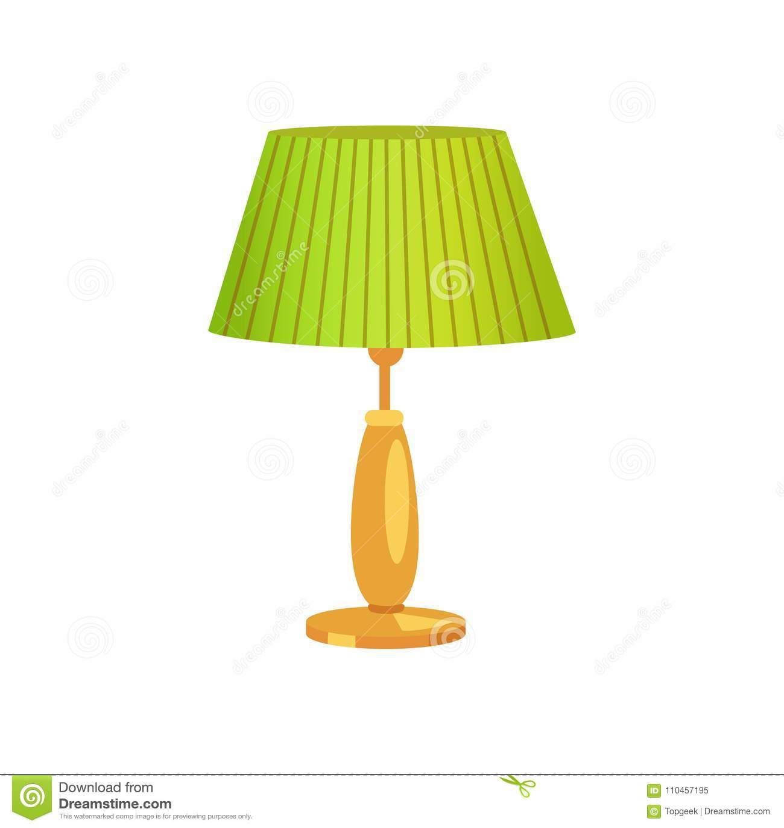 Illustration för vektor för lampskärm för inredesign