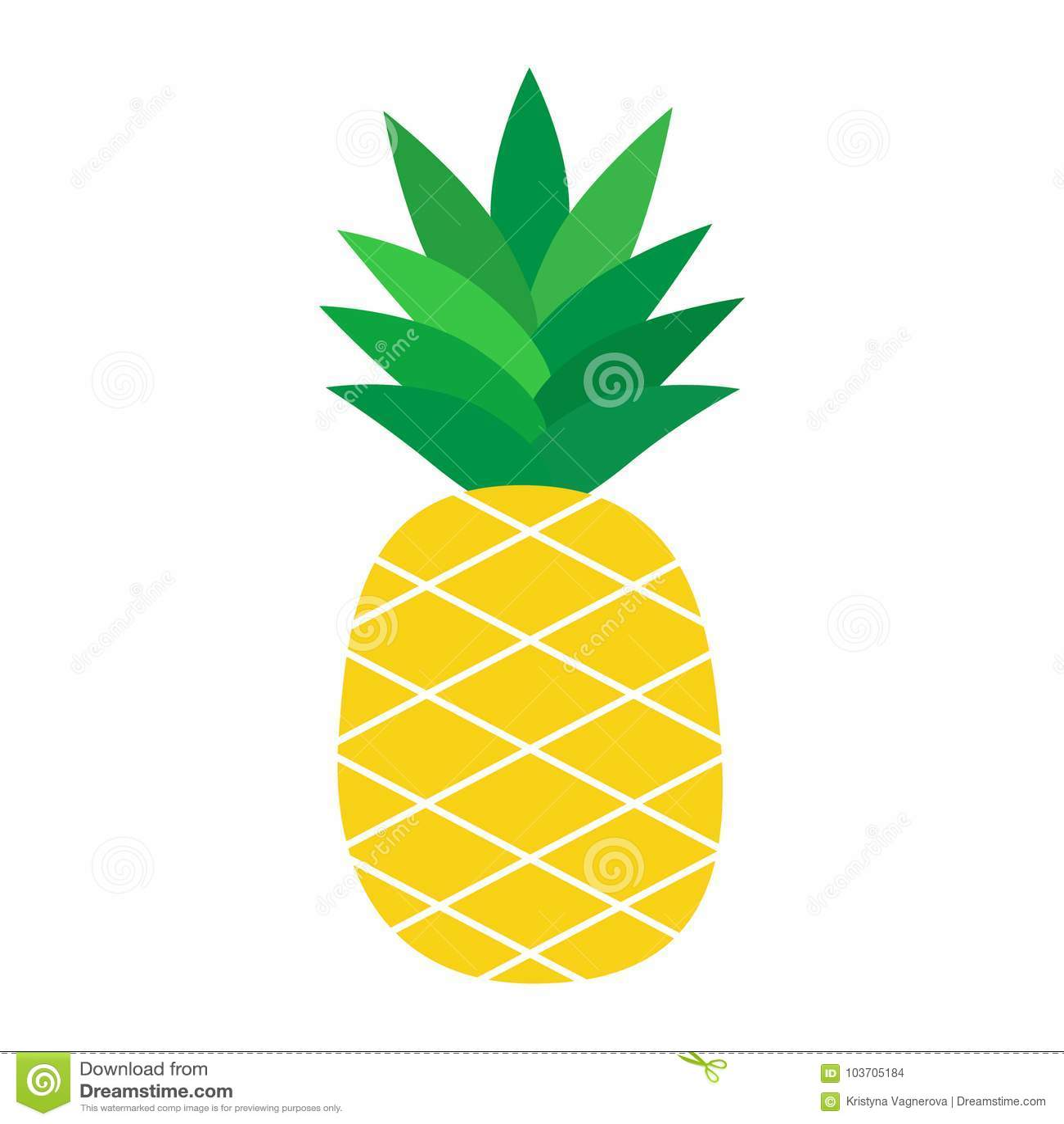 Illustration för vektor för tropisk frukt för ananas