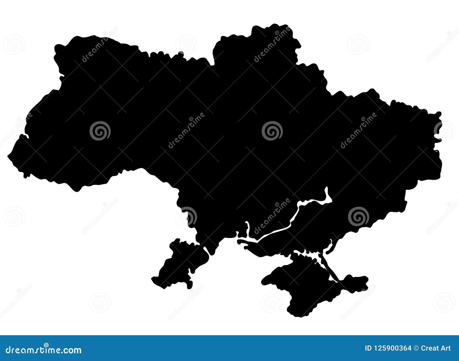 Illustration för vektor för Ukraina översiktskontur