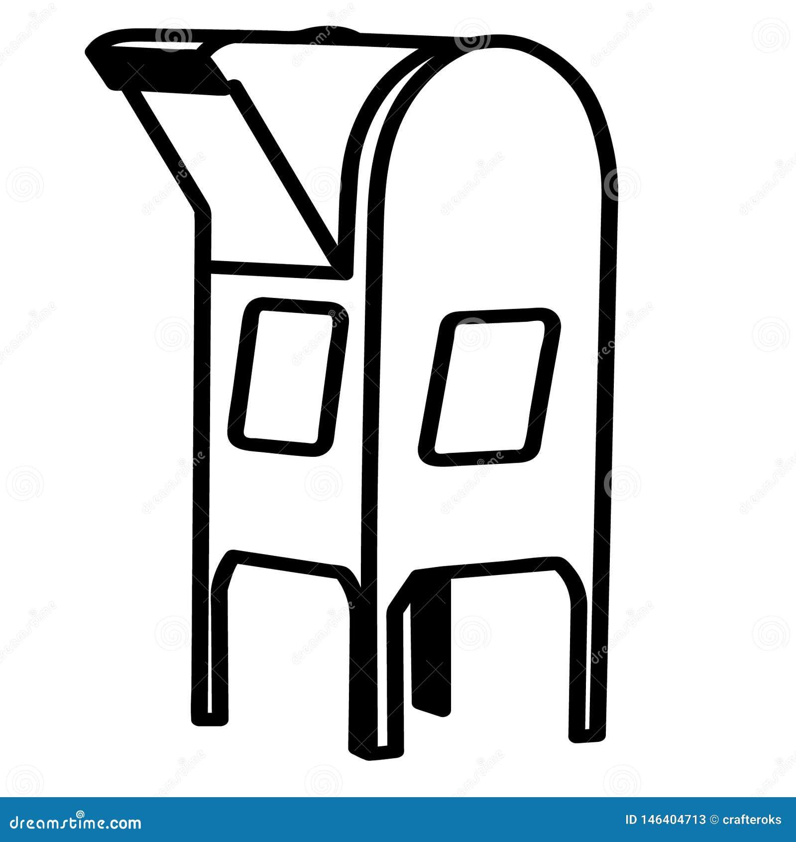 Illustration f?r brevl?davektoreps vid crafteroks