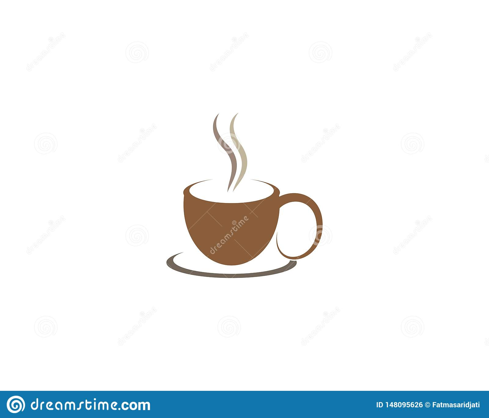 Illustration f?r symbol f?r kaffekopp
