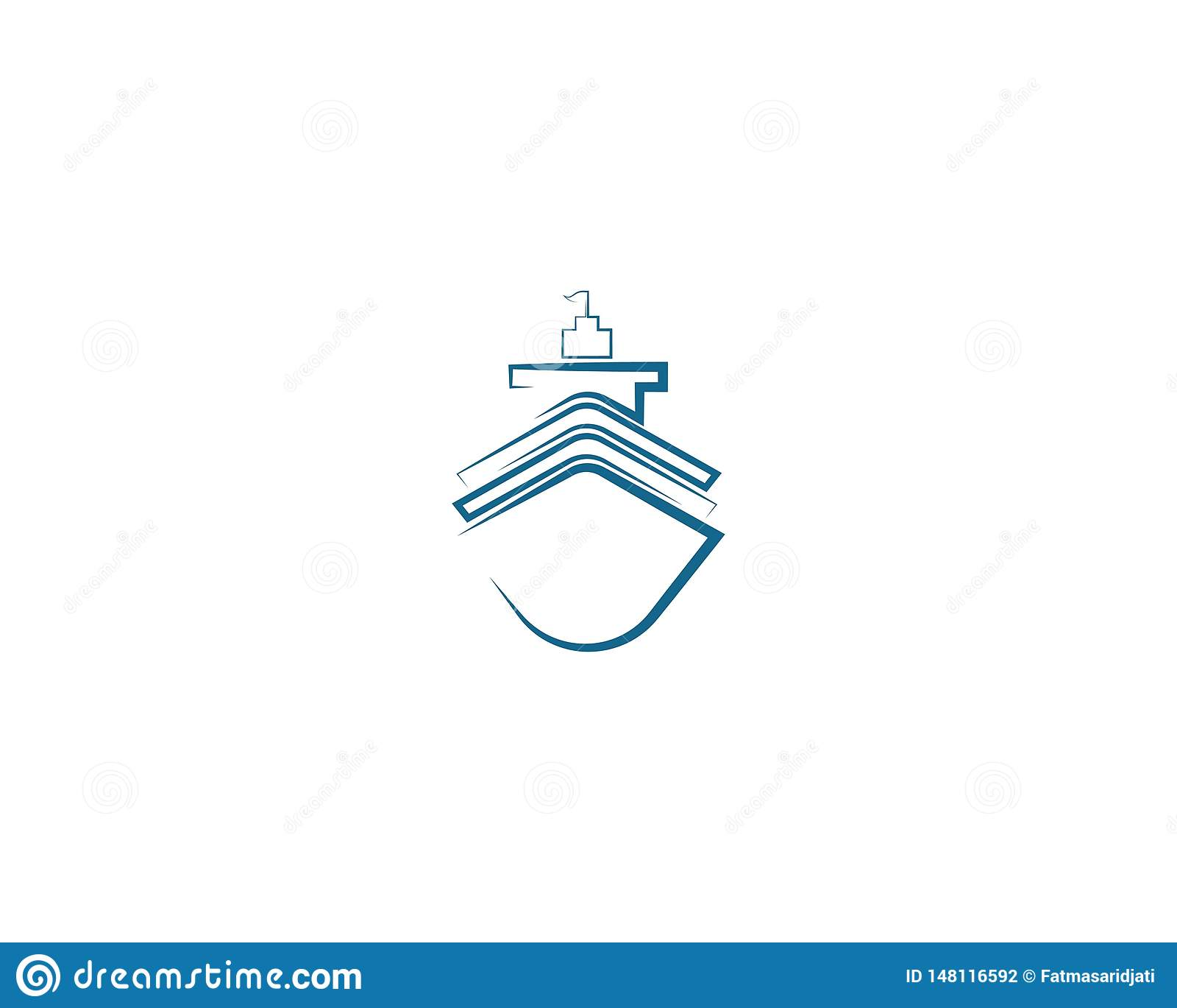 Illustration f?r symbol f?r kryssningskepp