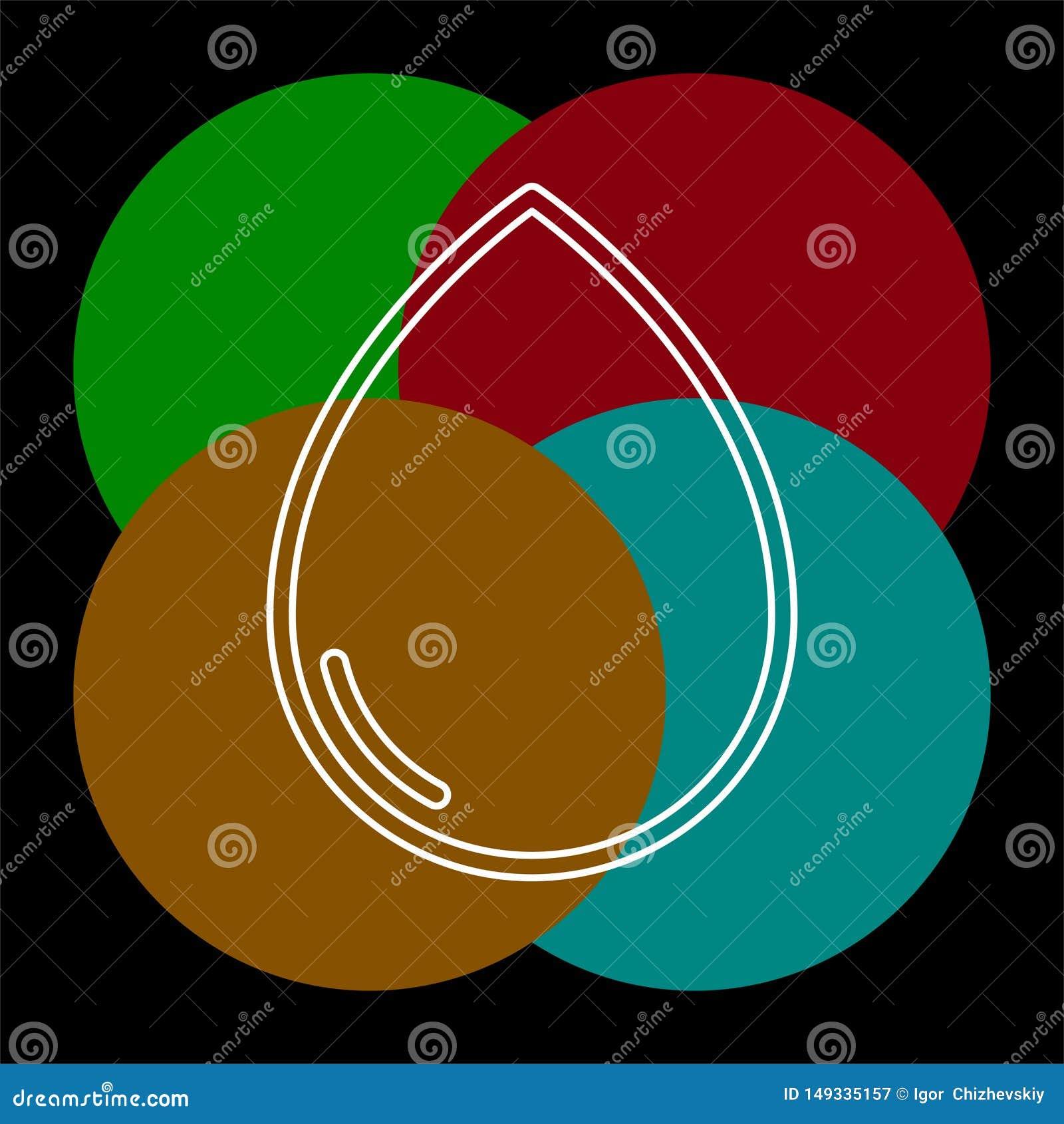 Illustration f?r vektorvattendroppe, naturregn