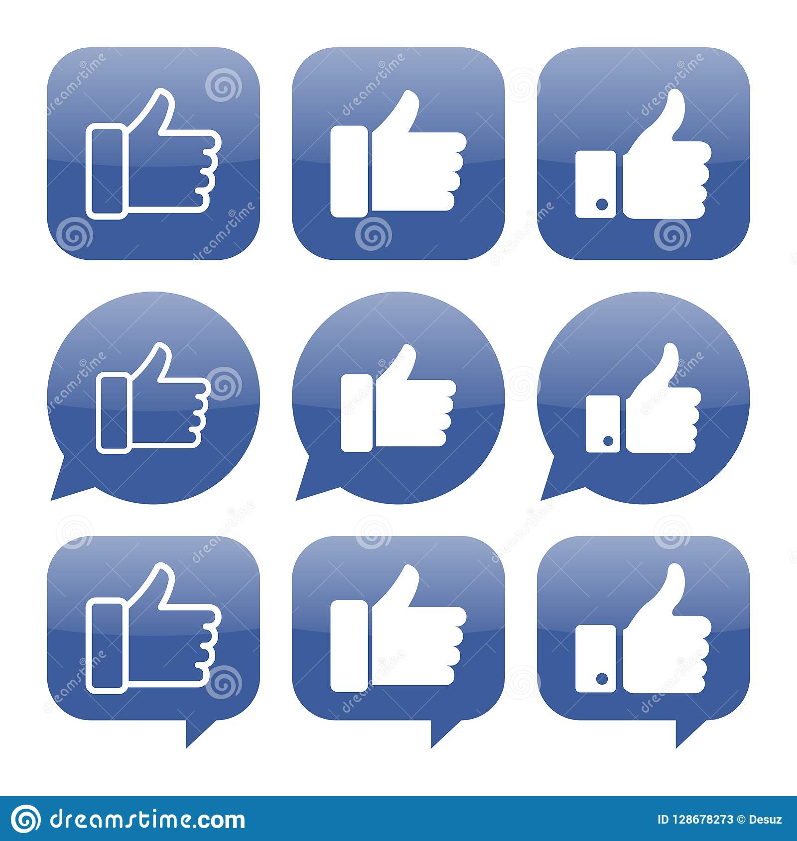 Facebook like icon vector collection