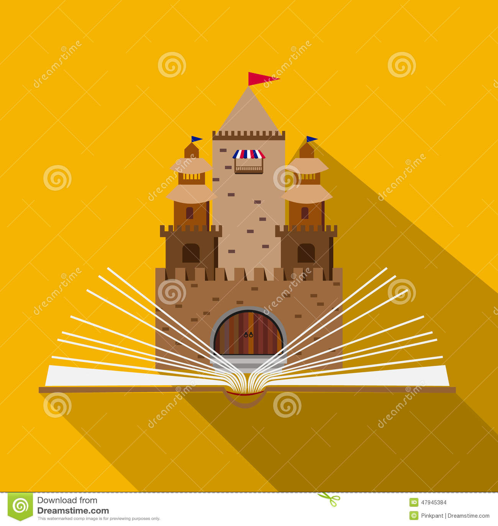 castle design flat stock vector - image: 70087397