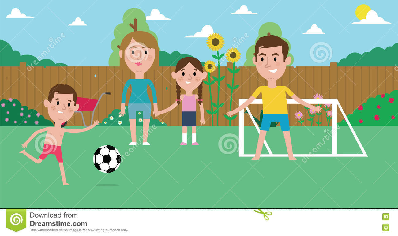 Family Garden Playing Stock Illustrations 770 Family Garden Playing Stock Illustrations Vectors Clipart Dreamstime