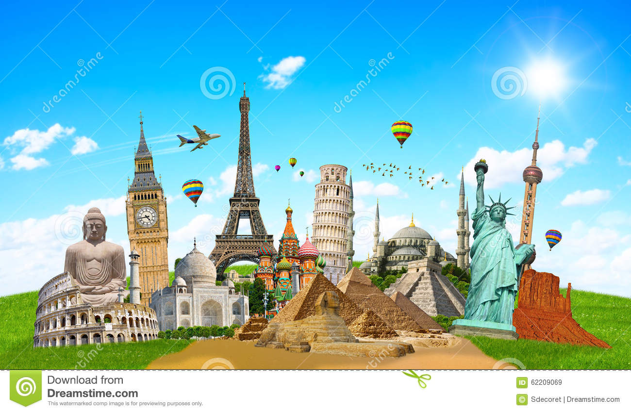 Illustration Of Famous Monument Of The World Stock Image Image 62209069