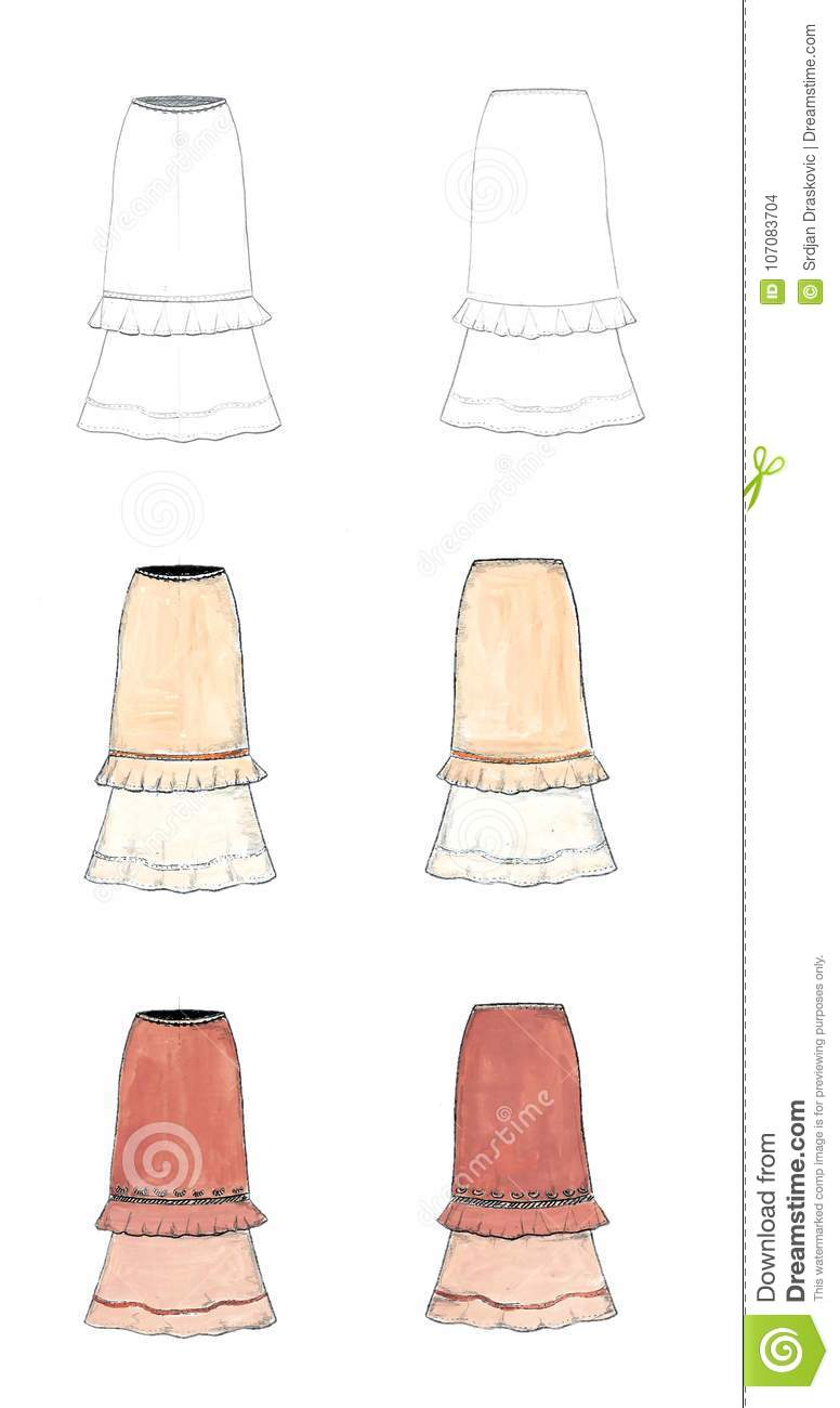 fashion designer drawing stock illustration illustration of
