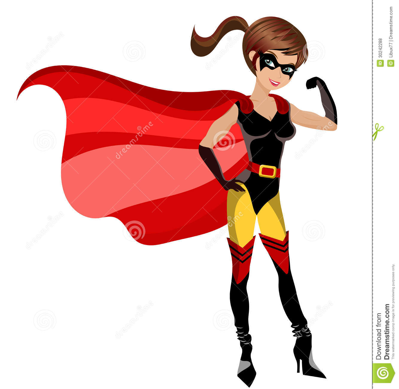 super hero woman muscles isolated stock vector image 30242288. Black Bedroom Furniture Sets. Home Design Ideas