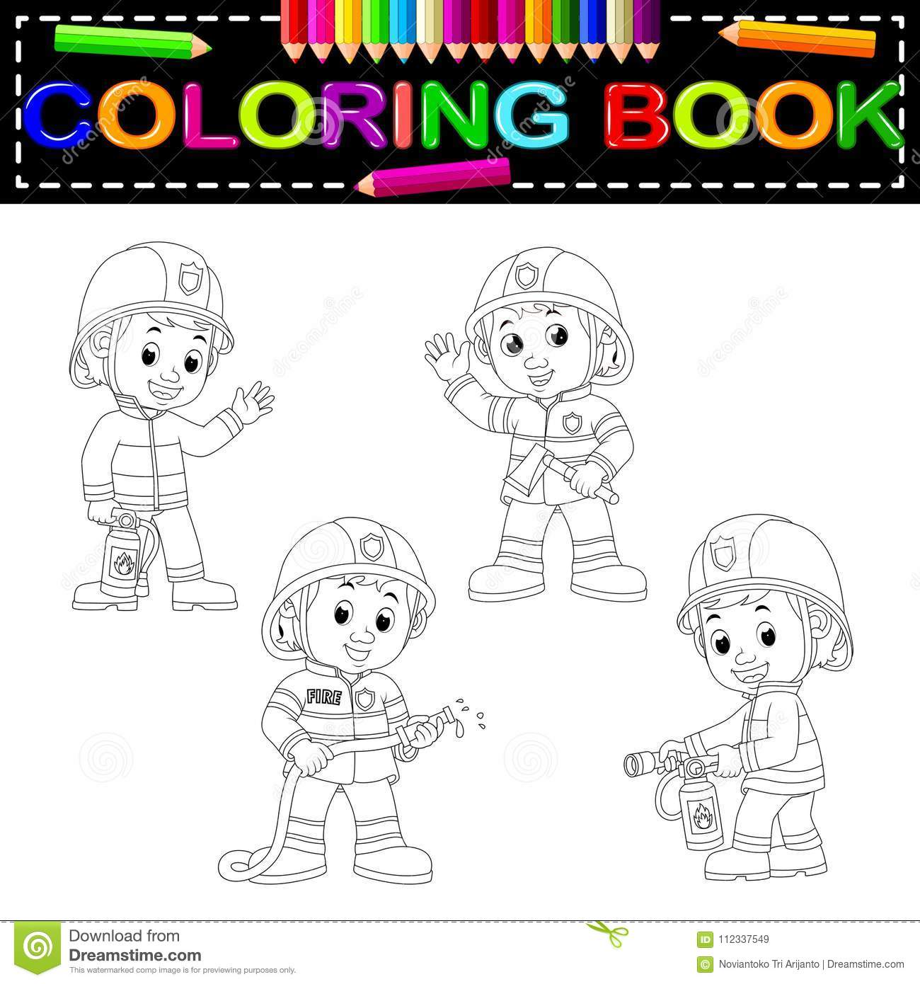 Firefighter Coloring Book Stock Illustrations 103 Firefighter Coloring Book Stock Illustrations Vectors Clipart Dreamstime