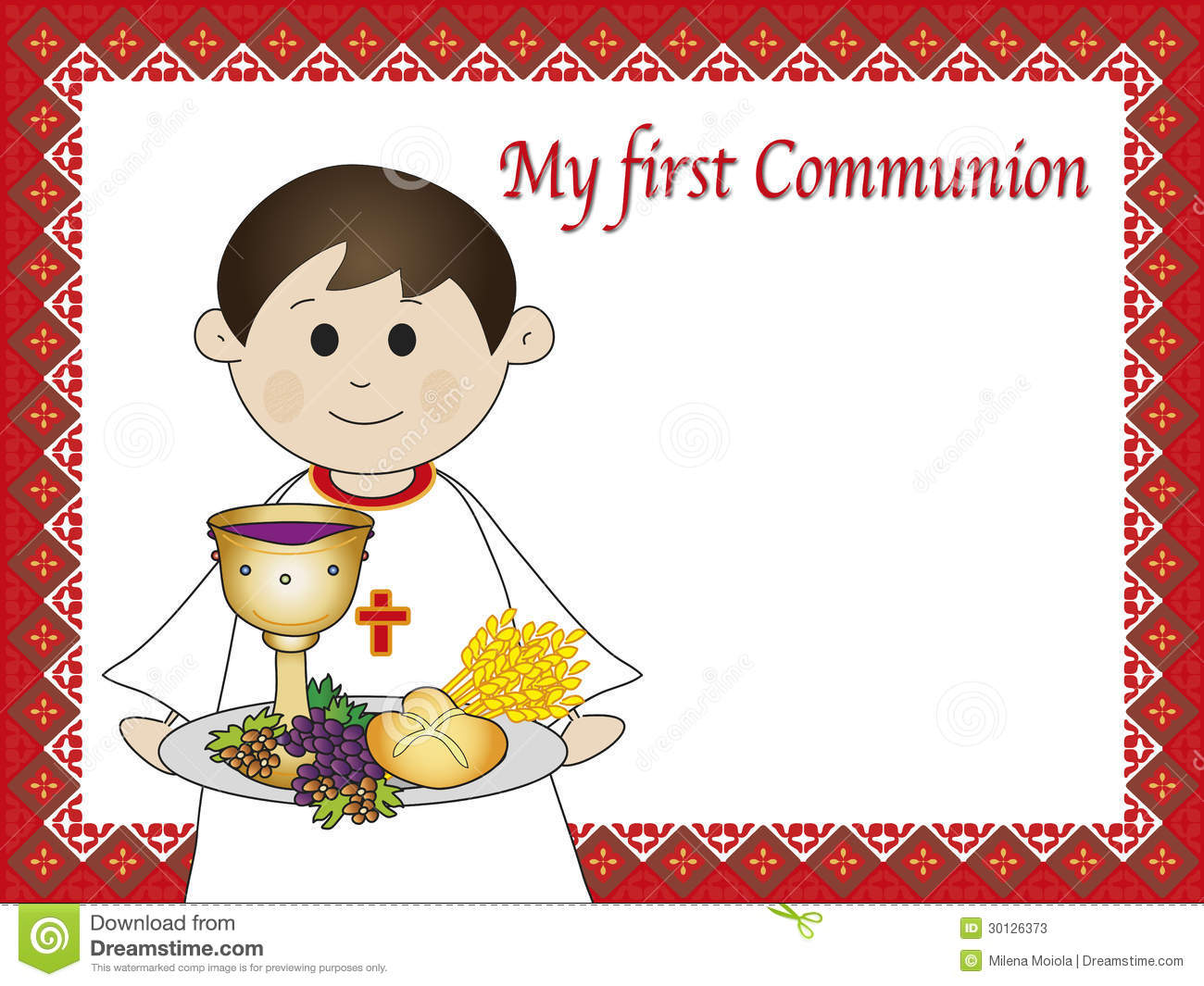First Communion Stock Photos Image 30126373