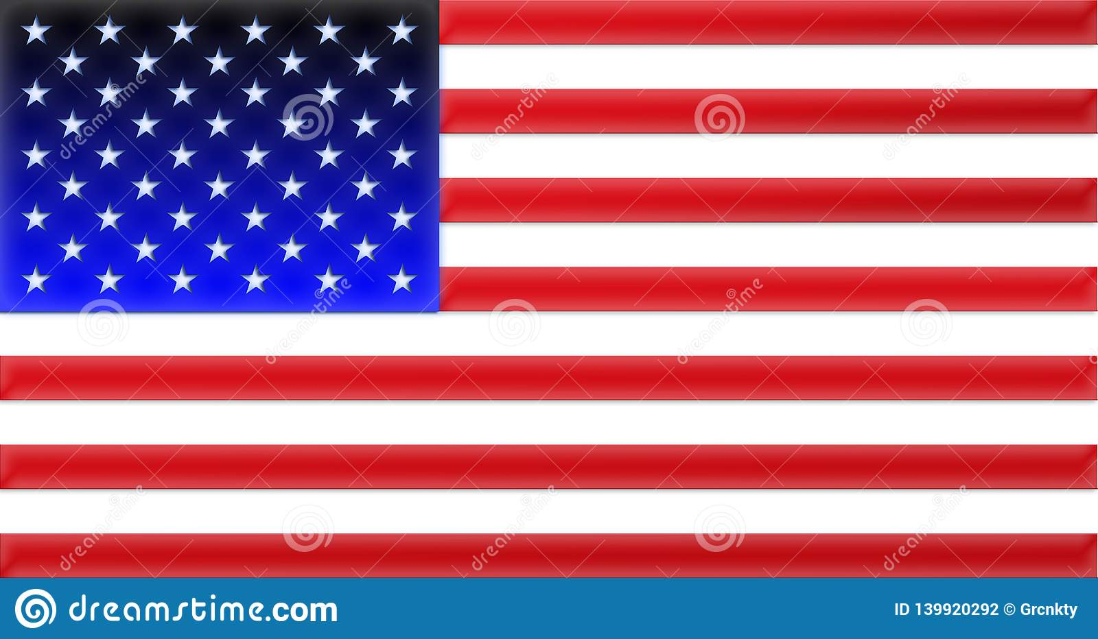 Illustration flag of USA design vector Sticker national flag USA national flag Symbol of nation Vector image of United States