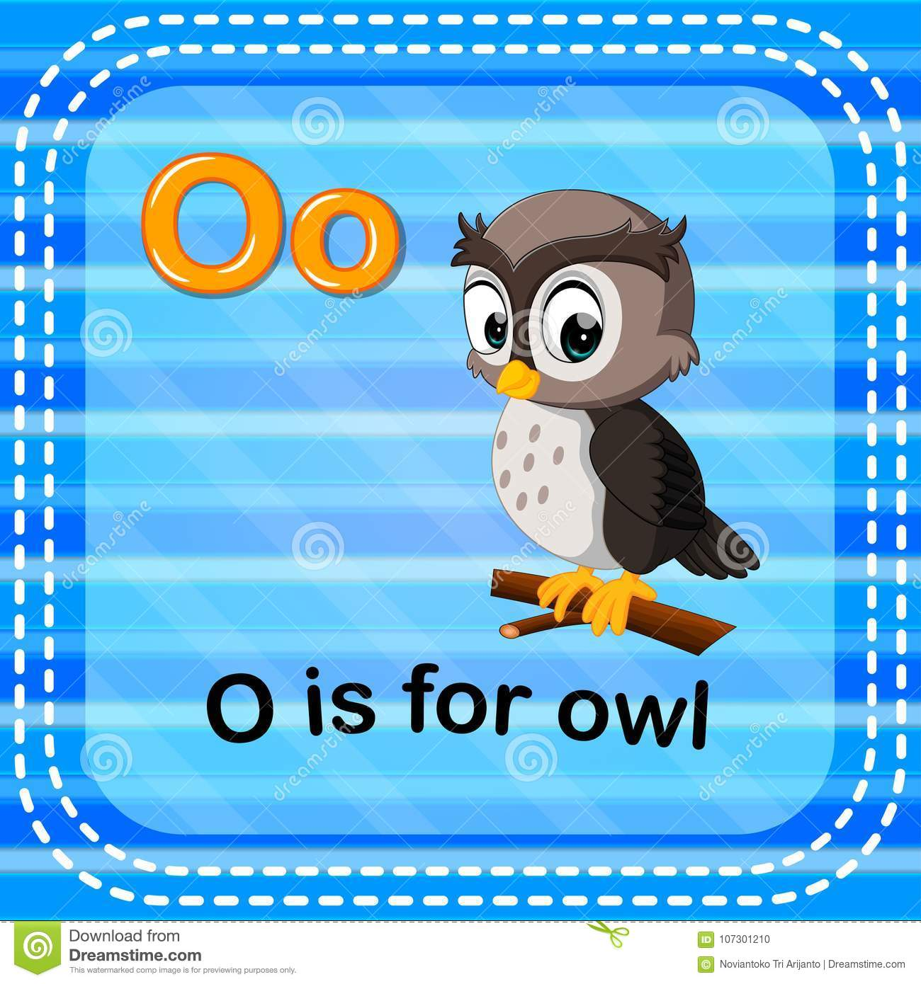 Flashcard Letter O Owl Stock Illustrations – 24 Flashcard Letter O ...