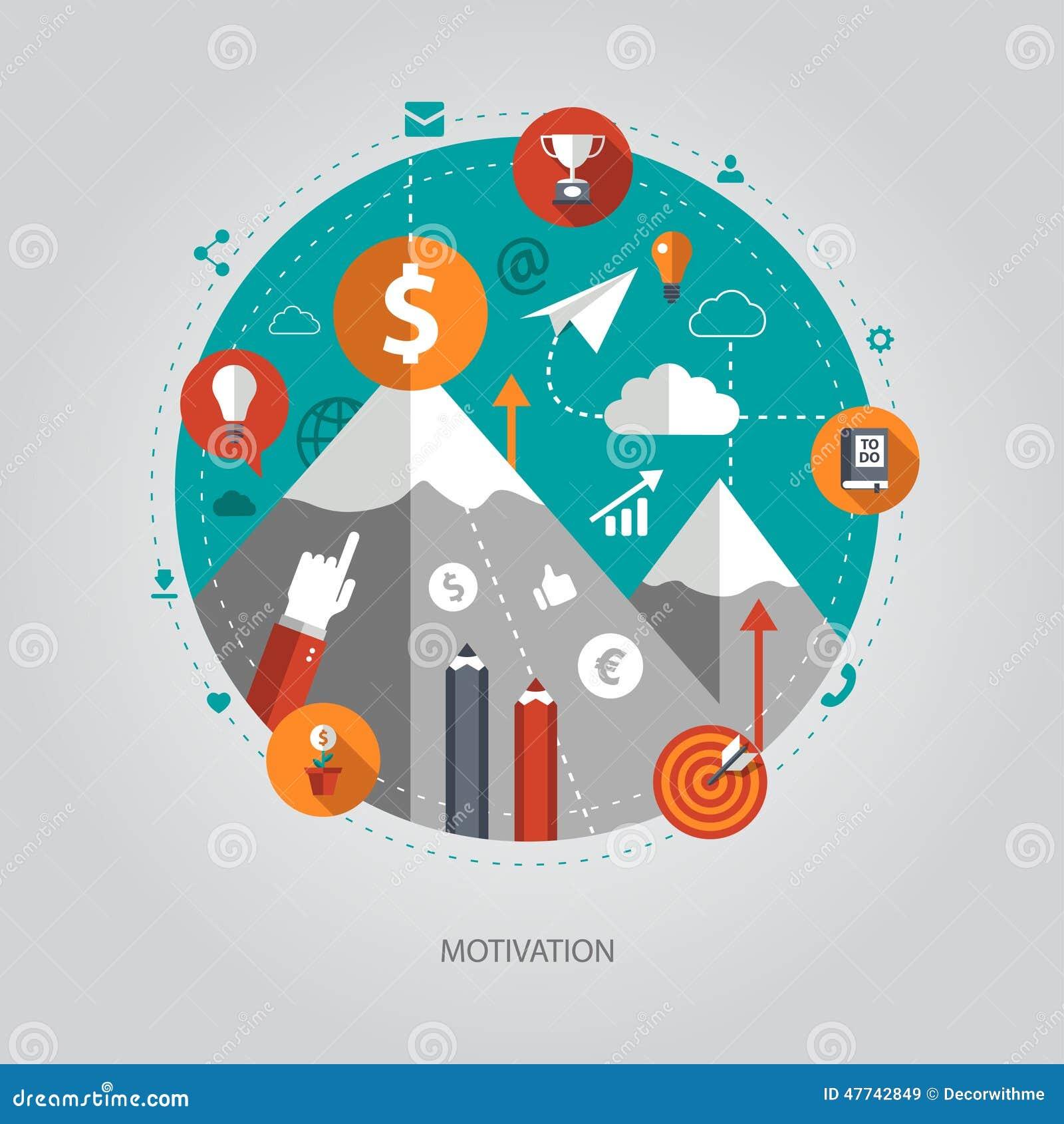 Illustration Of Flat Design Business Illustration Stock Vector - Image ...