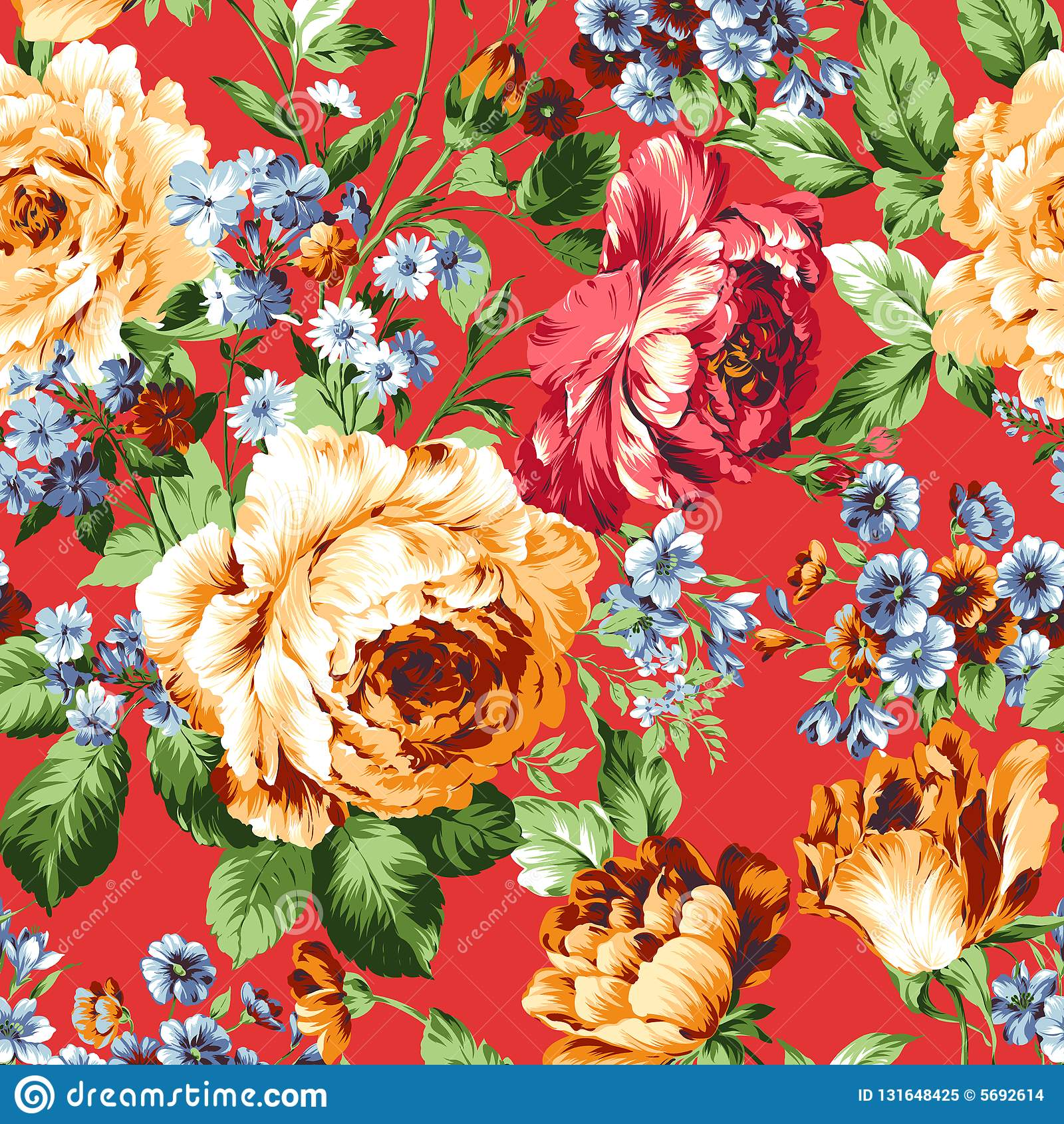 Flower Illustration pattern in simple background