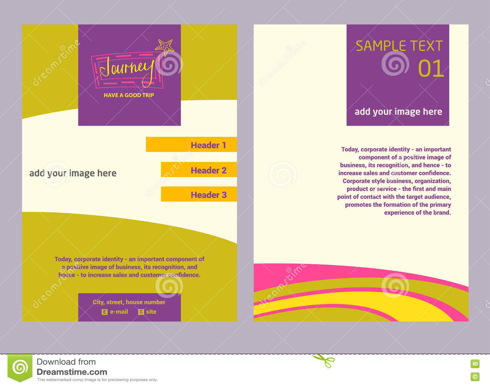 Illustration Flyer For Advertising Tourism Companies, Tour Opera ...