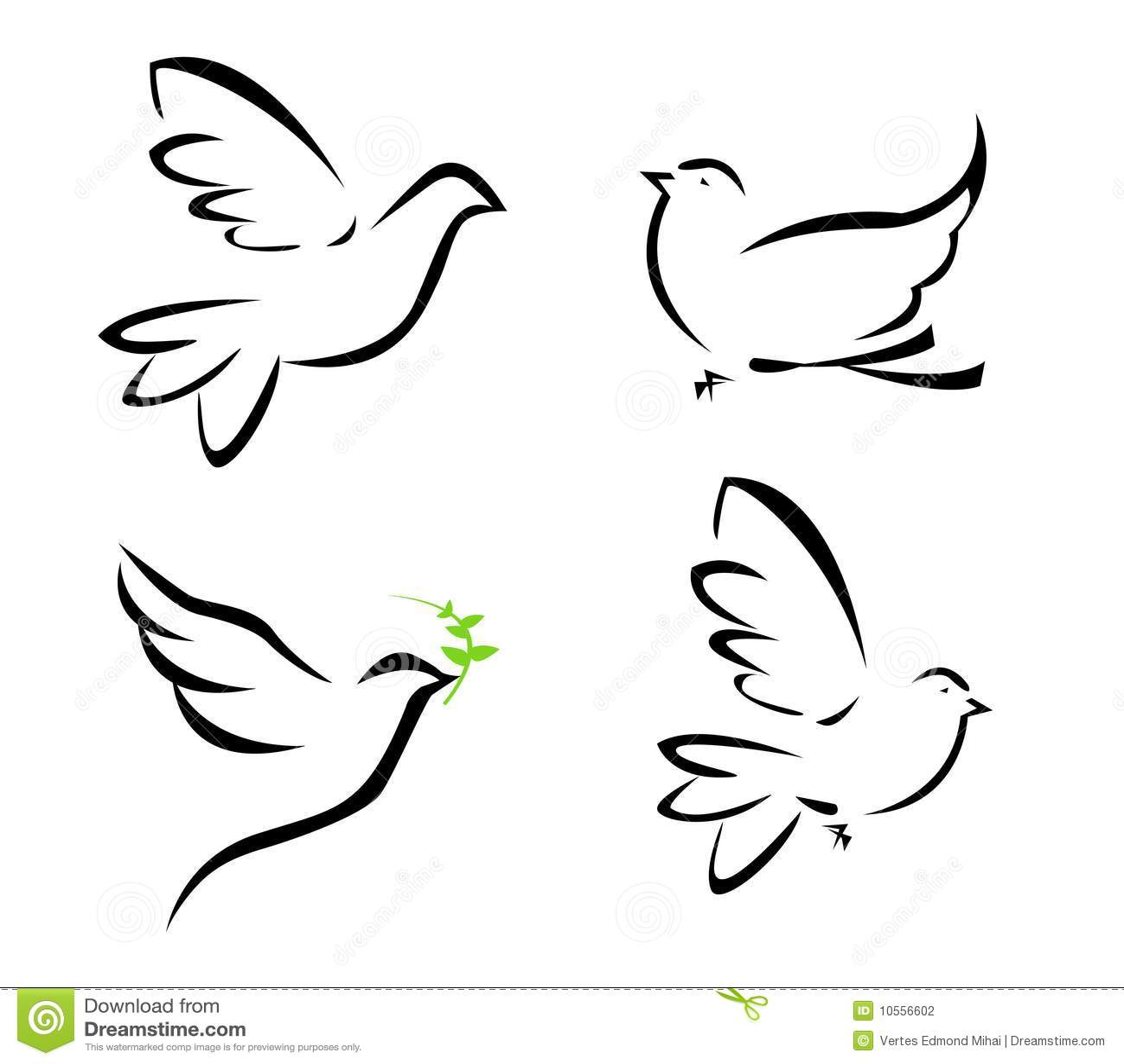 Illustration Of Flying Dove Stock Photography Image