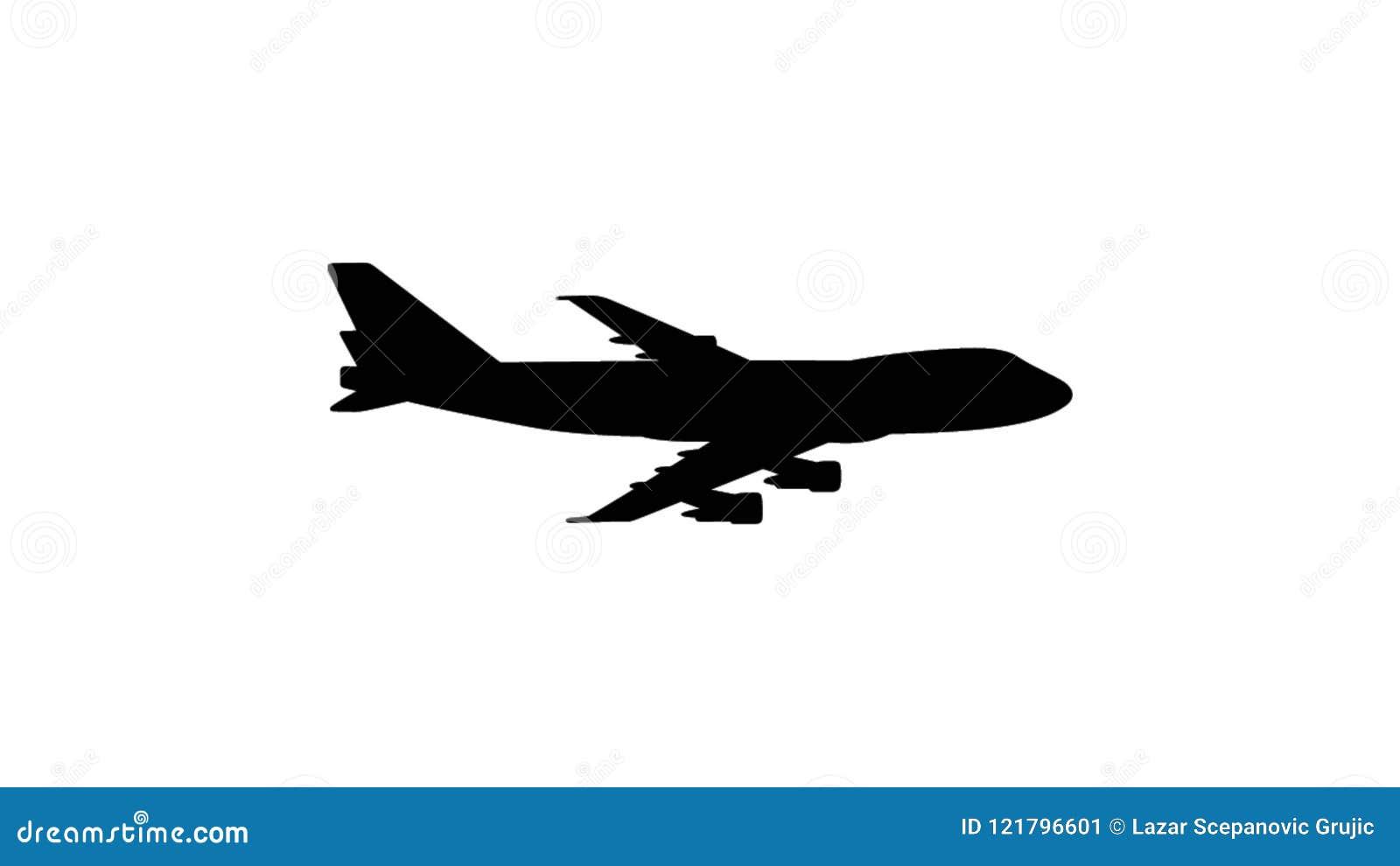 Illustration of a flying plane