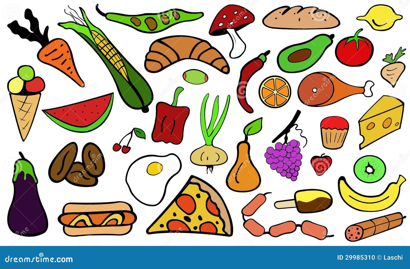 Doodle Healthy Food