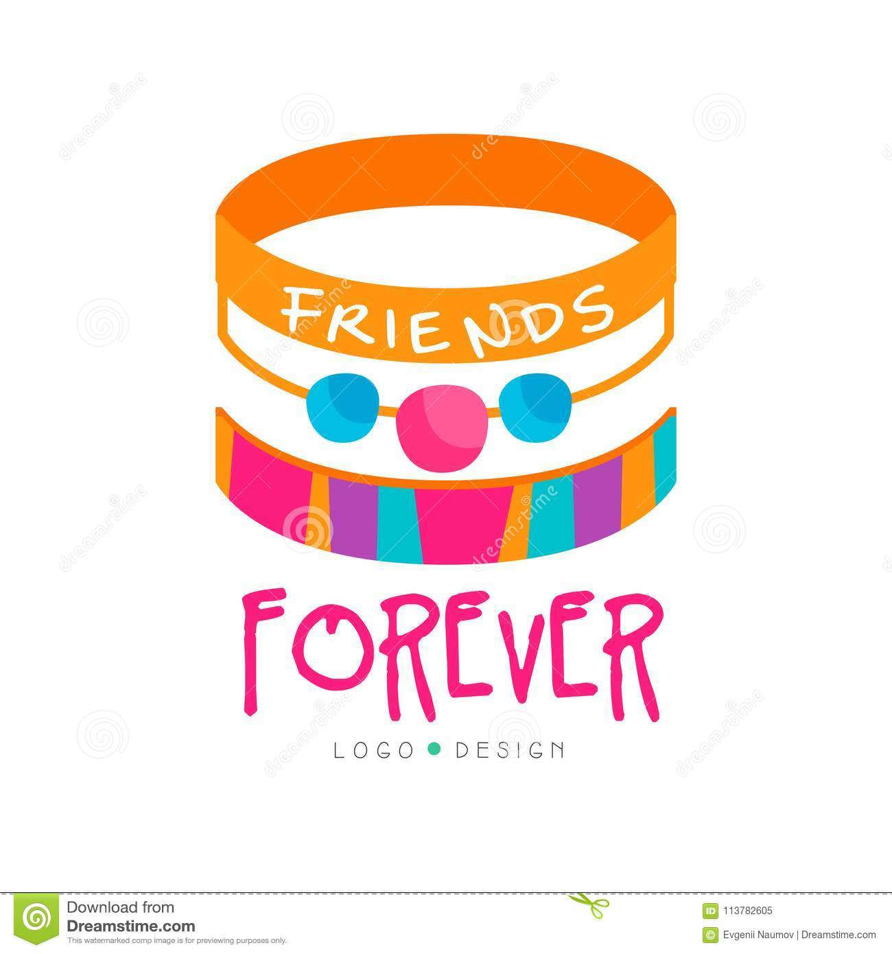 Abstract vector design with friendship bracelets friends forever download abstract vector design with friendship bracelets friends forever colorful graphic element for greeting m4hsunfo