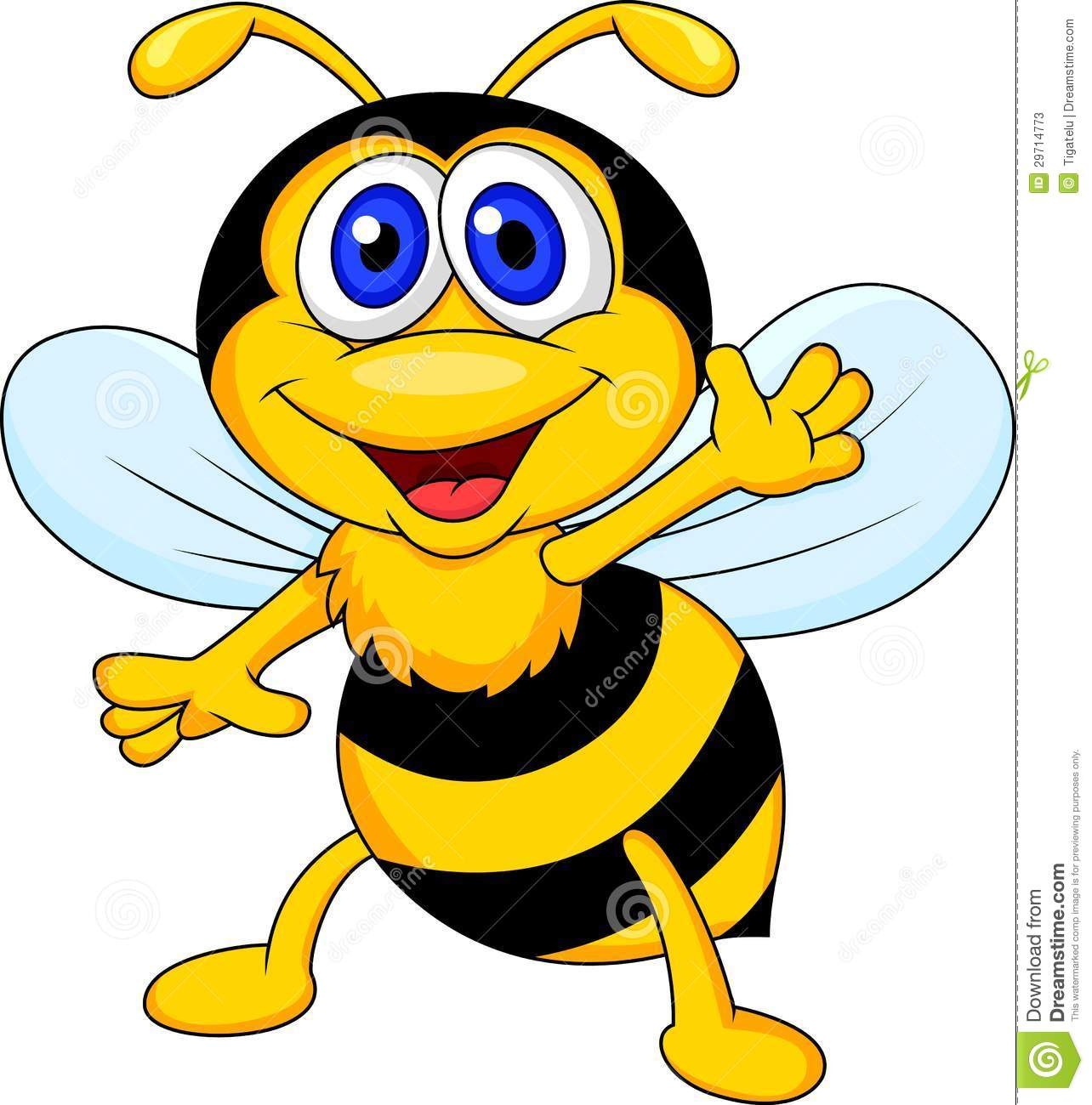 Funny Bee Cartoon Waving Stock Photos - Image: 29714773