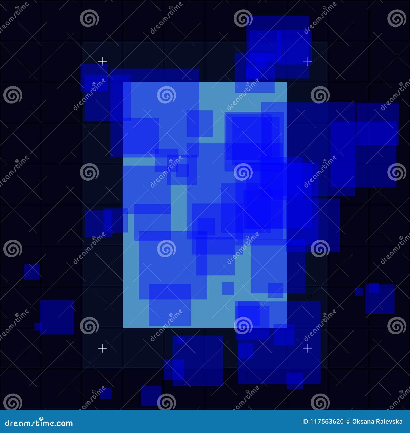 Illustration futuriste abstraite de vecteur, fond coloré bleu-foncé de pointe Concept de pointe, numérique