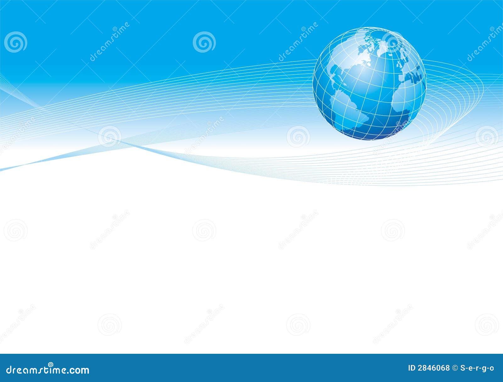 Illustration with globe