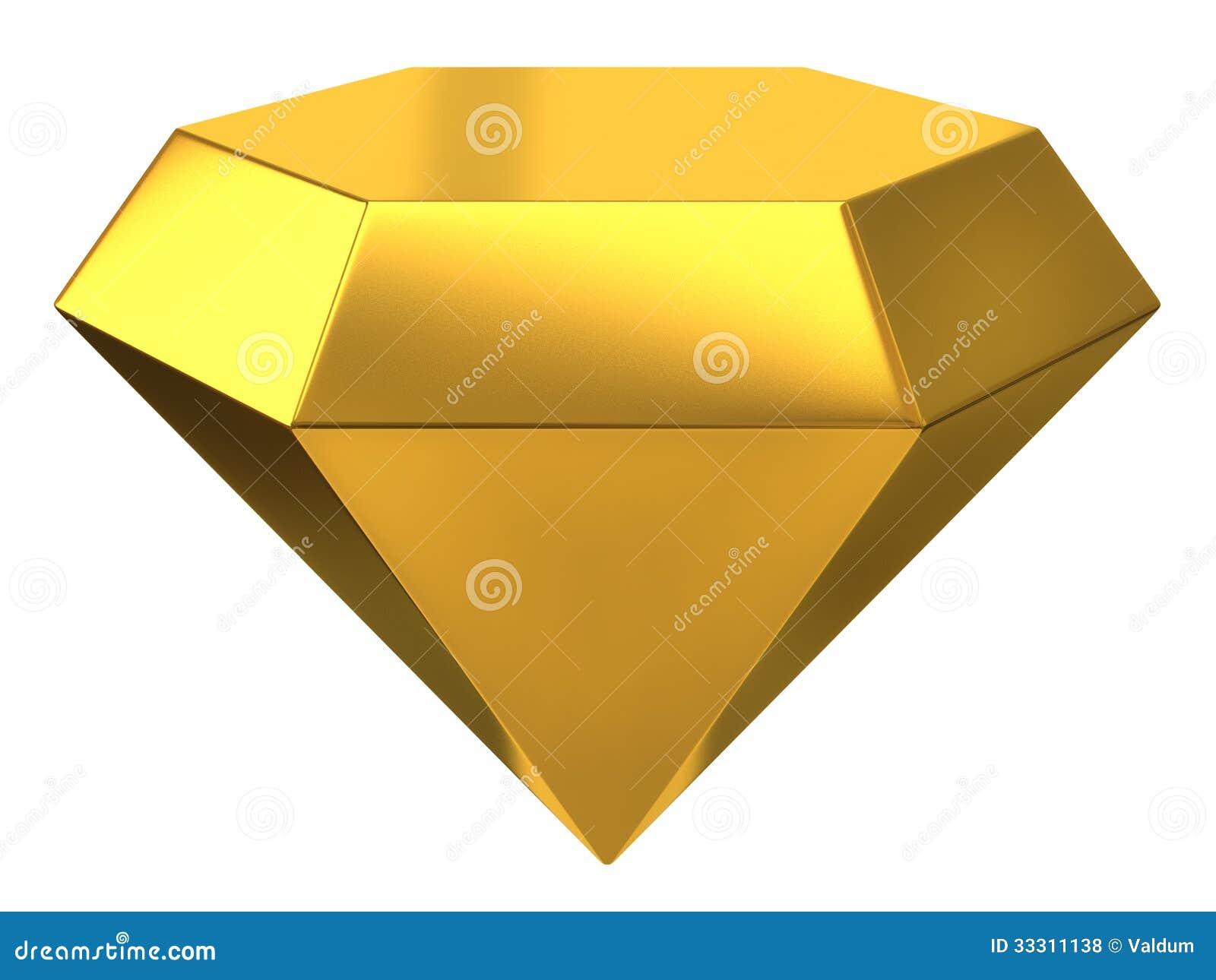 Illustration Of Gold Diamond Royalty Free Stock Photos