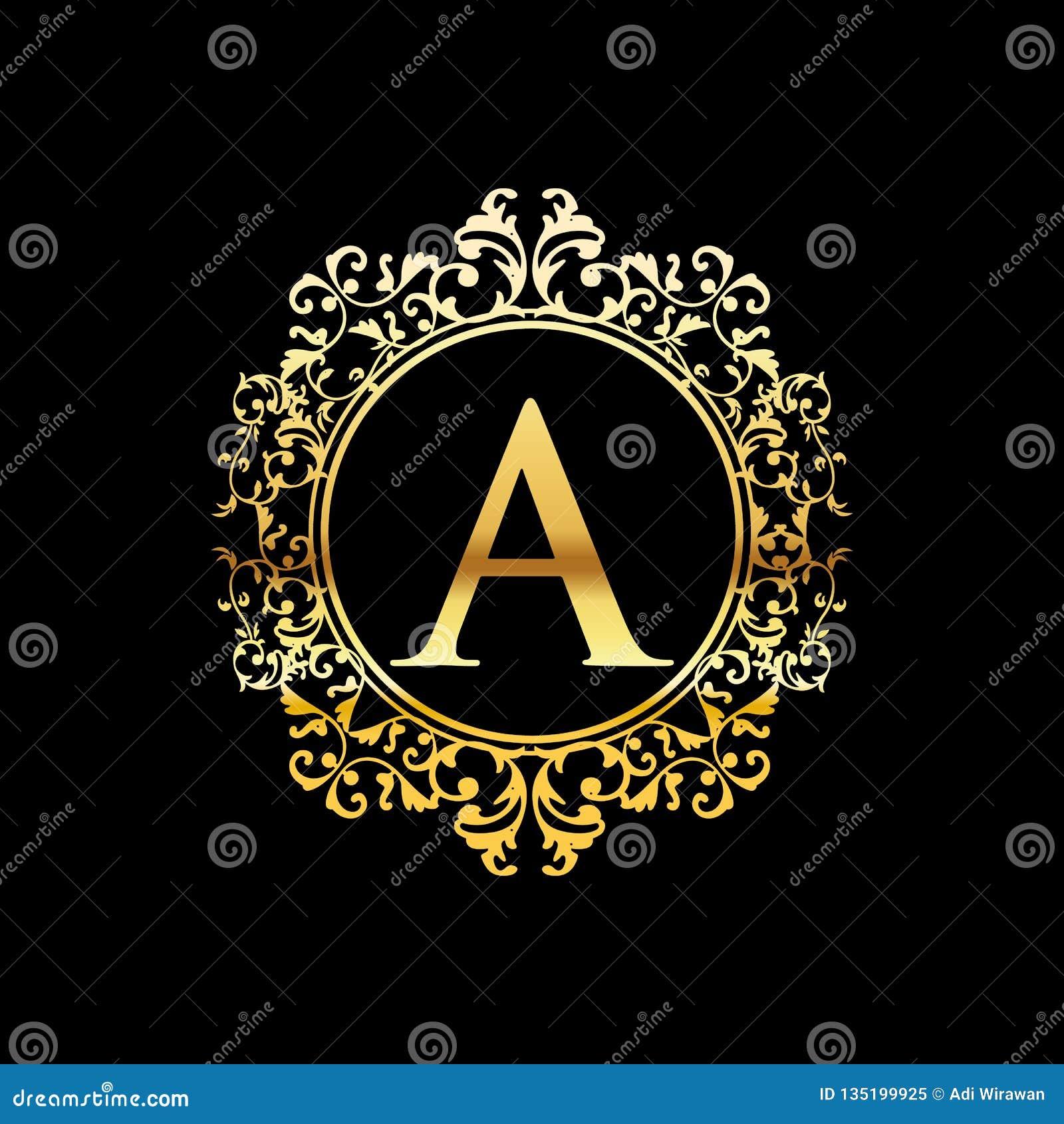 Illustration Of Gold Luxury Logo Design Stock Vector Illustration Of Arabic Decoration 135199925