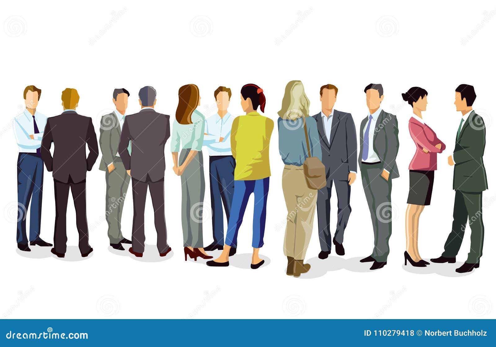 Business people having conversation