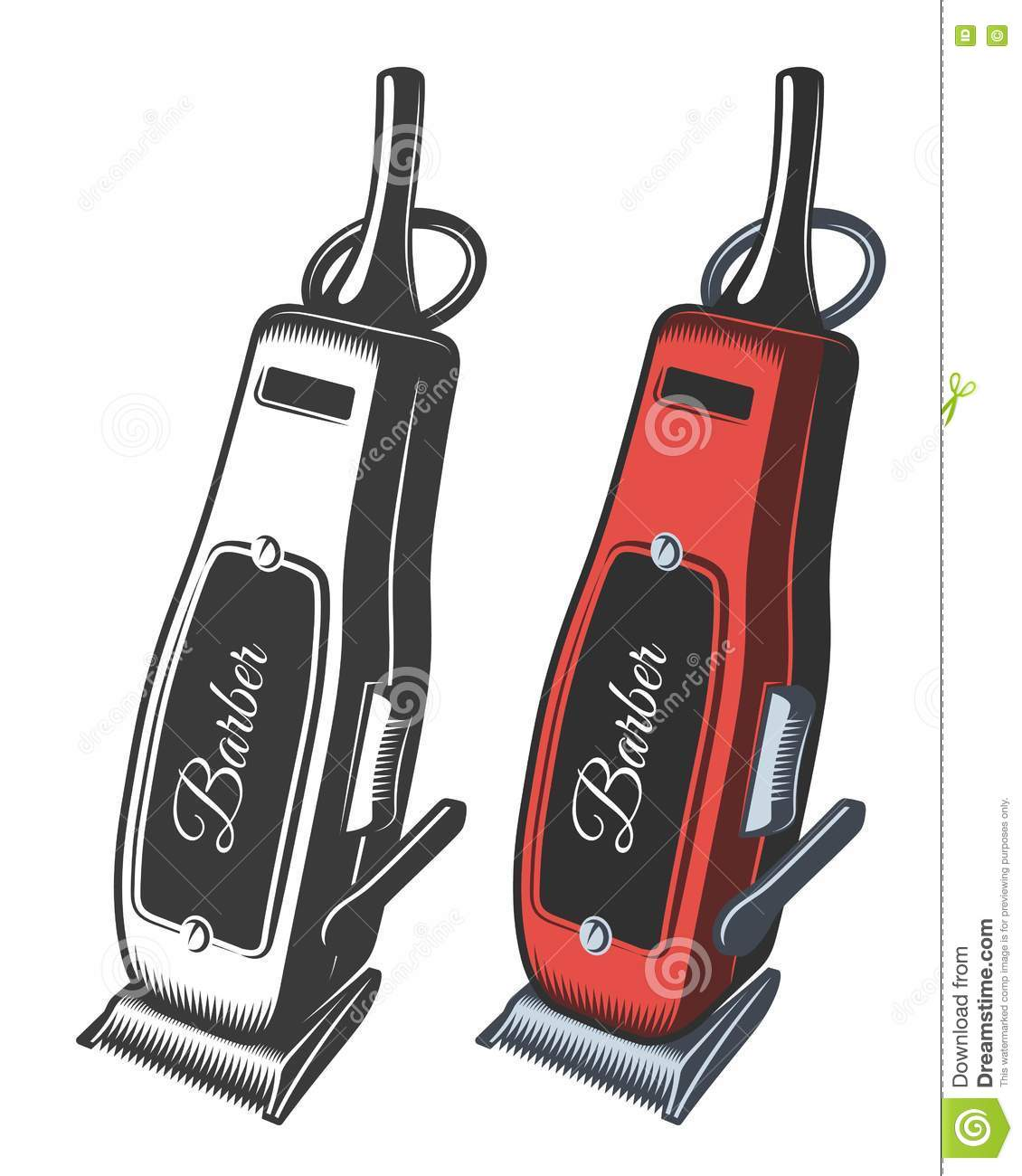 Illustration Of Hair Clipper Stock Vector Illustration Of Electrical Haircut 80524681