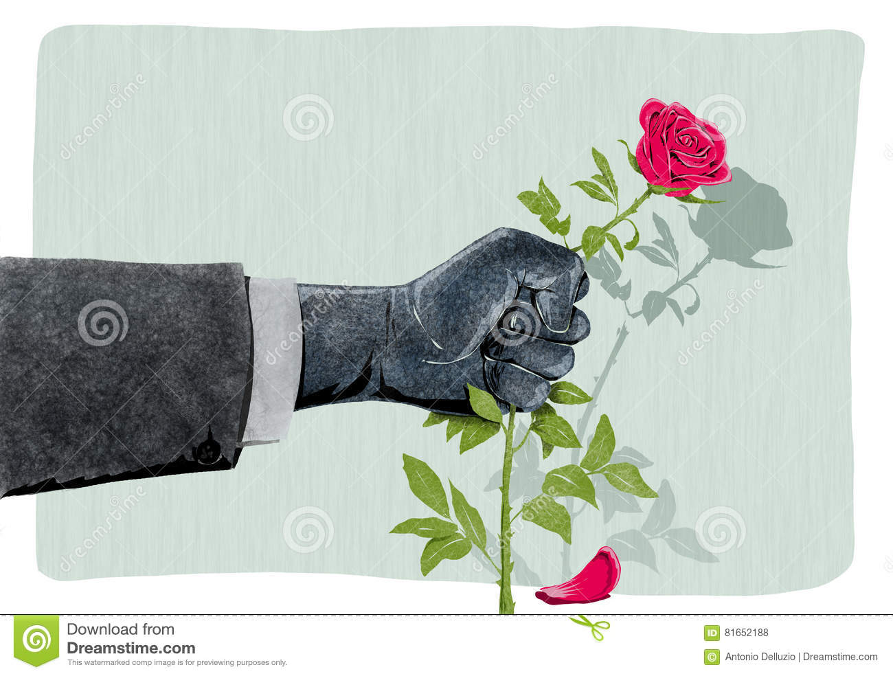 Illustration of hand that breaks a rose as a symbol of violence illustration of hand that breaks a rose as a symbol of violence against women buycottarizona Choice Image