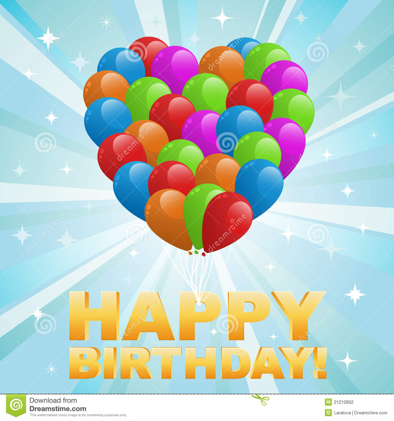 Happy Birthday Card Balloons And Confetti Vector Image – Birthday Cards Balloons