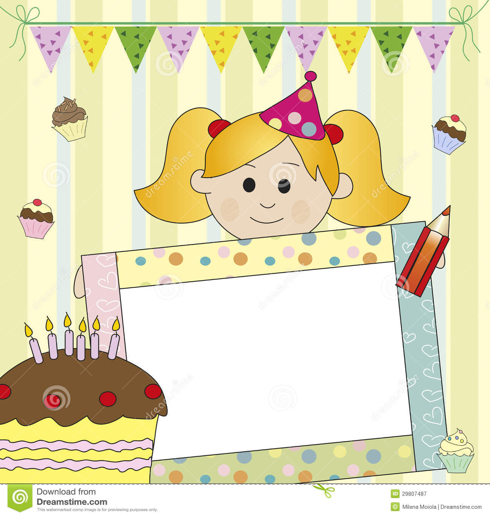 Happy Birthday Girl Illustration ~ Birthday girl royalty free stock photography image